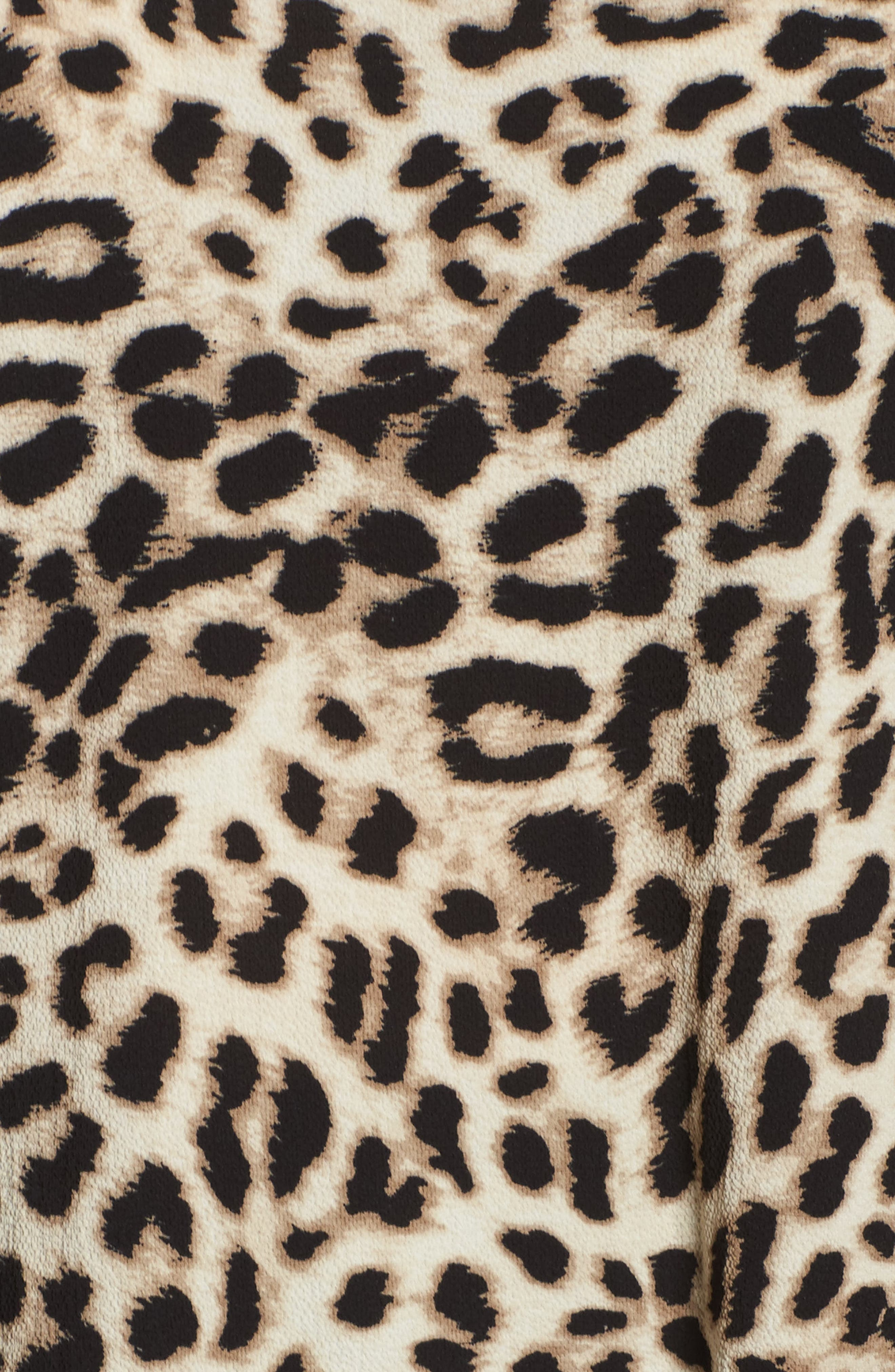 Alternate Image 5  - Vince Camuto Leopard Song Bell Sleeve Blouse (Plus Size)