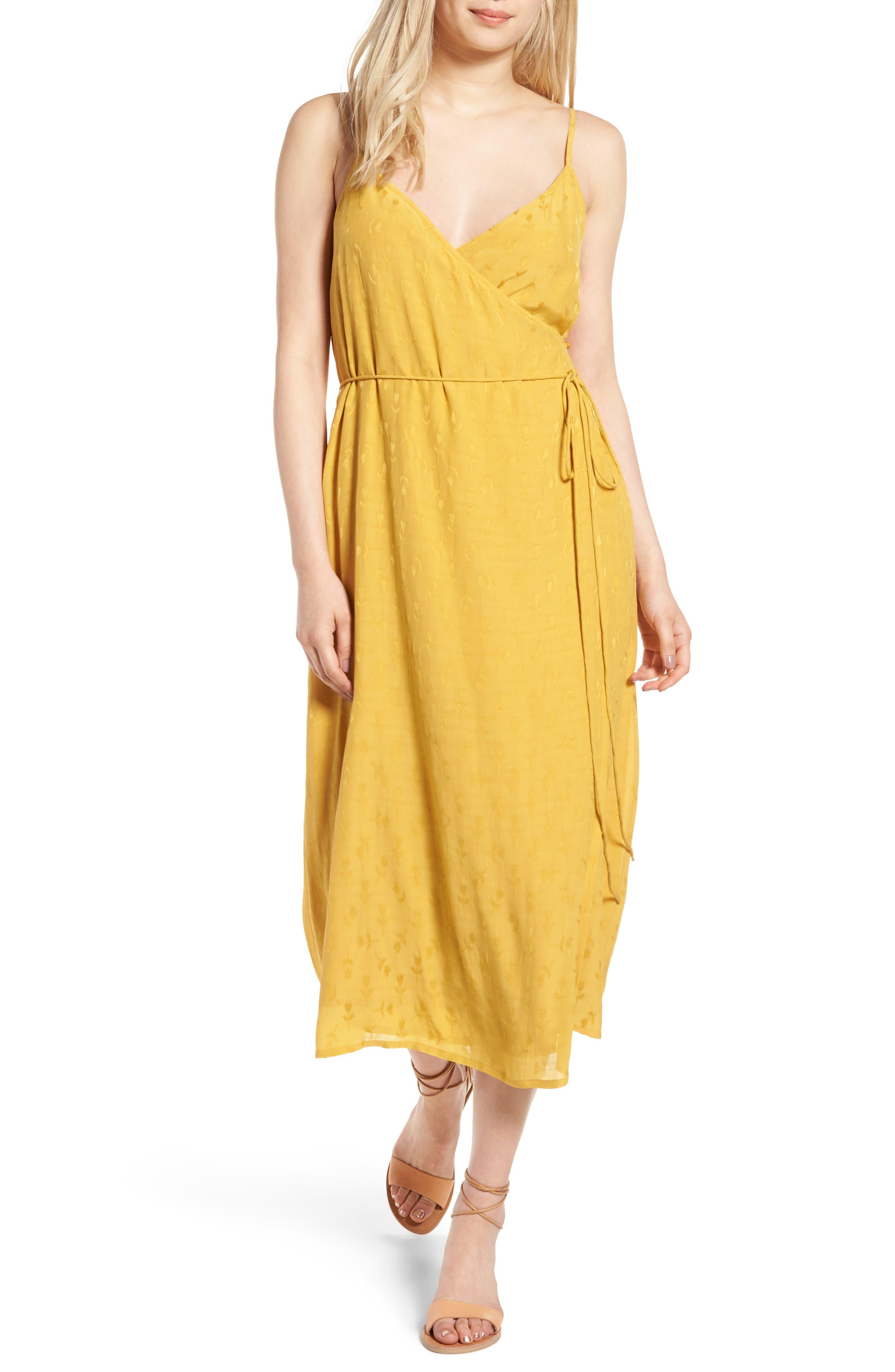 Hinge Jacquard Wrap Dress