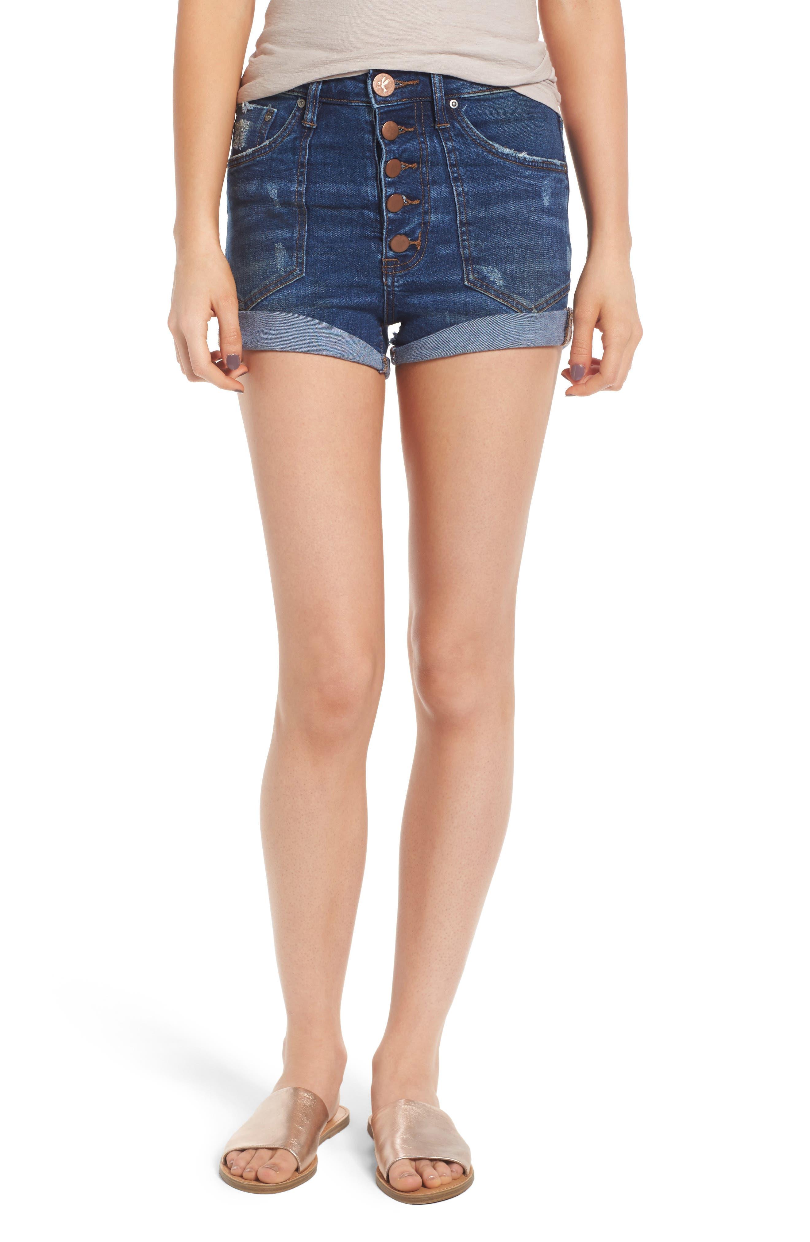 One Teaspoon Denim Shorts (Bonnie Blue)