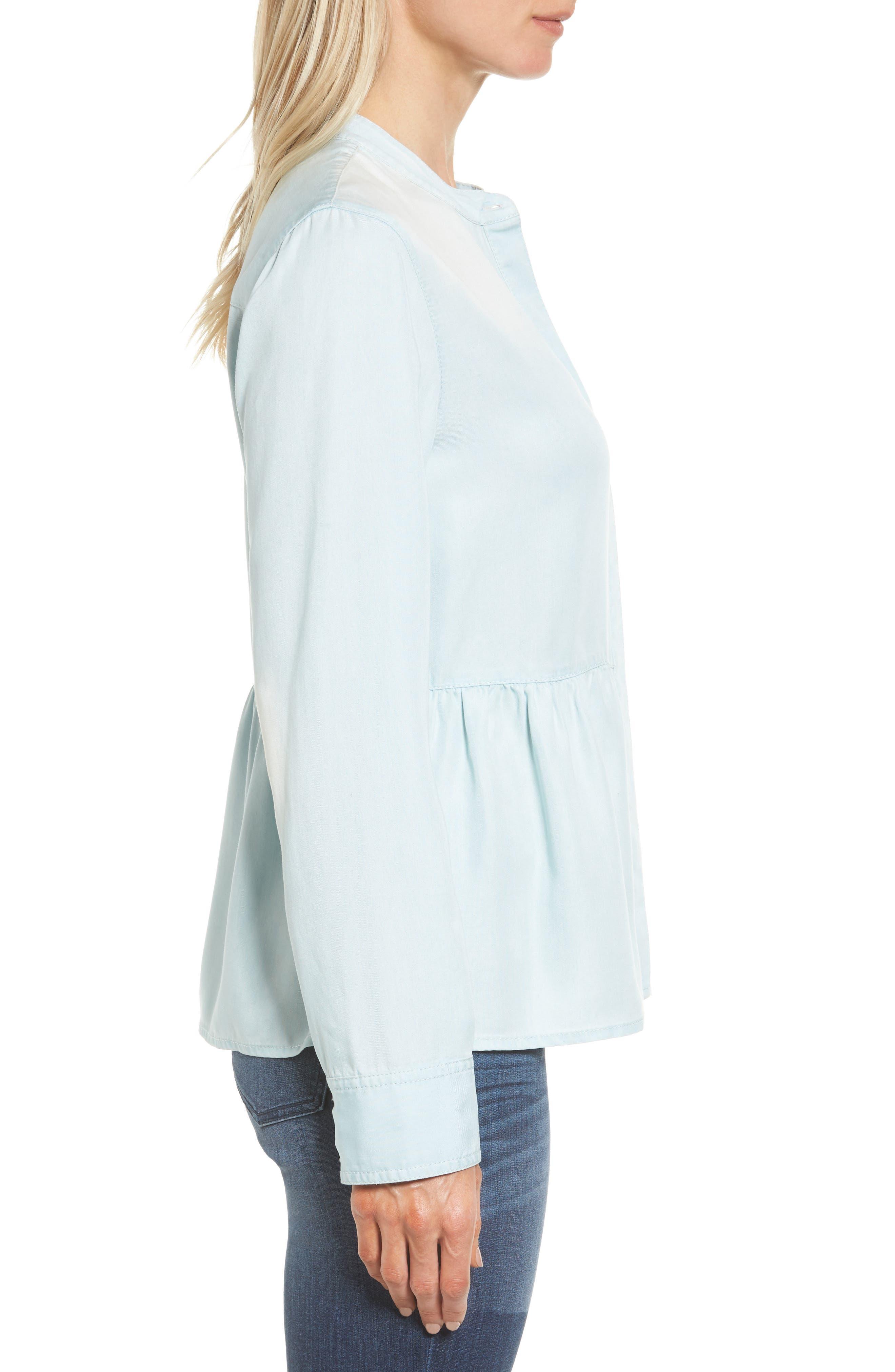Alternate Image 3  - Caslon® Peplum Shirt (Regular & Petite)
