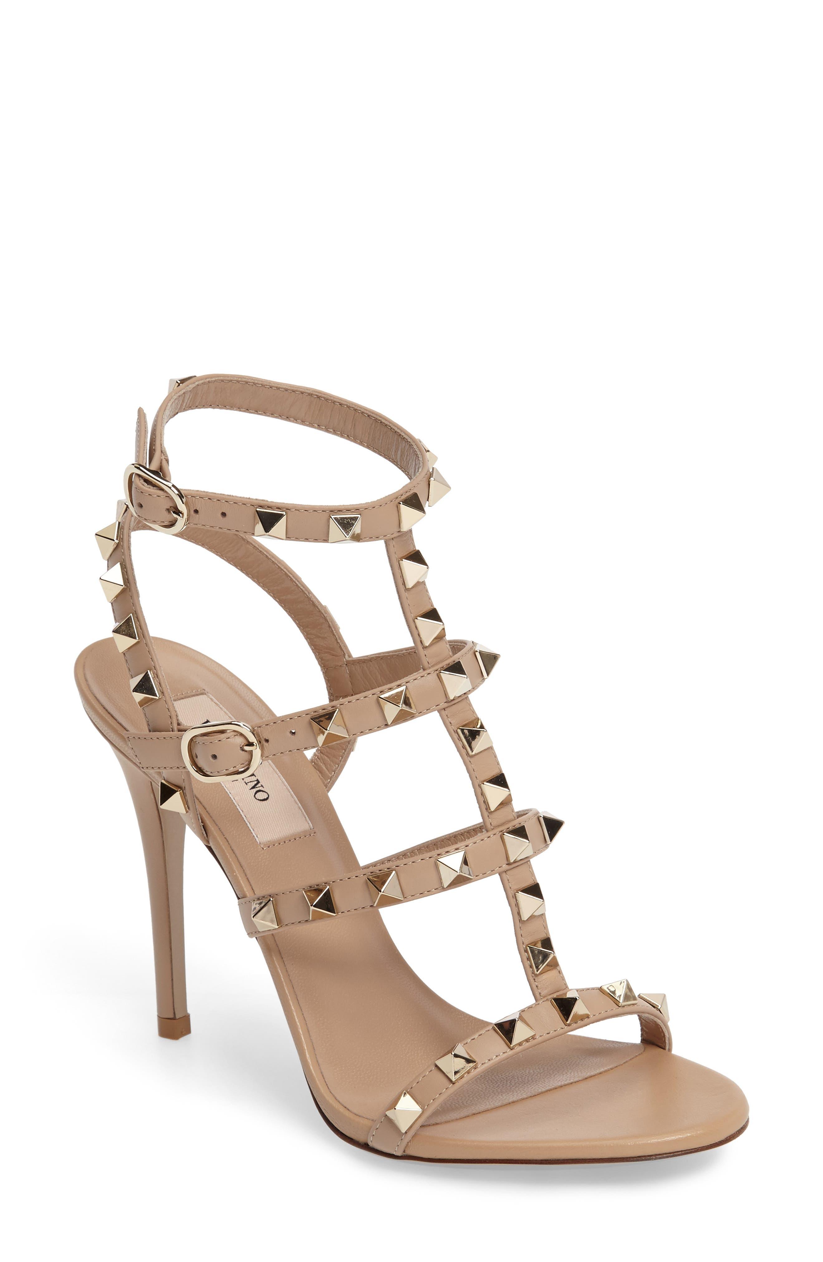Alternate Image 1 Selected - Valentino 'Rockstud' Ankle Strap Sandal (Women)