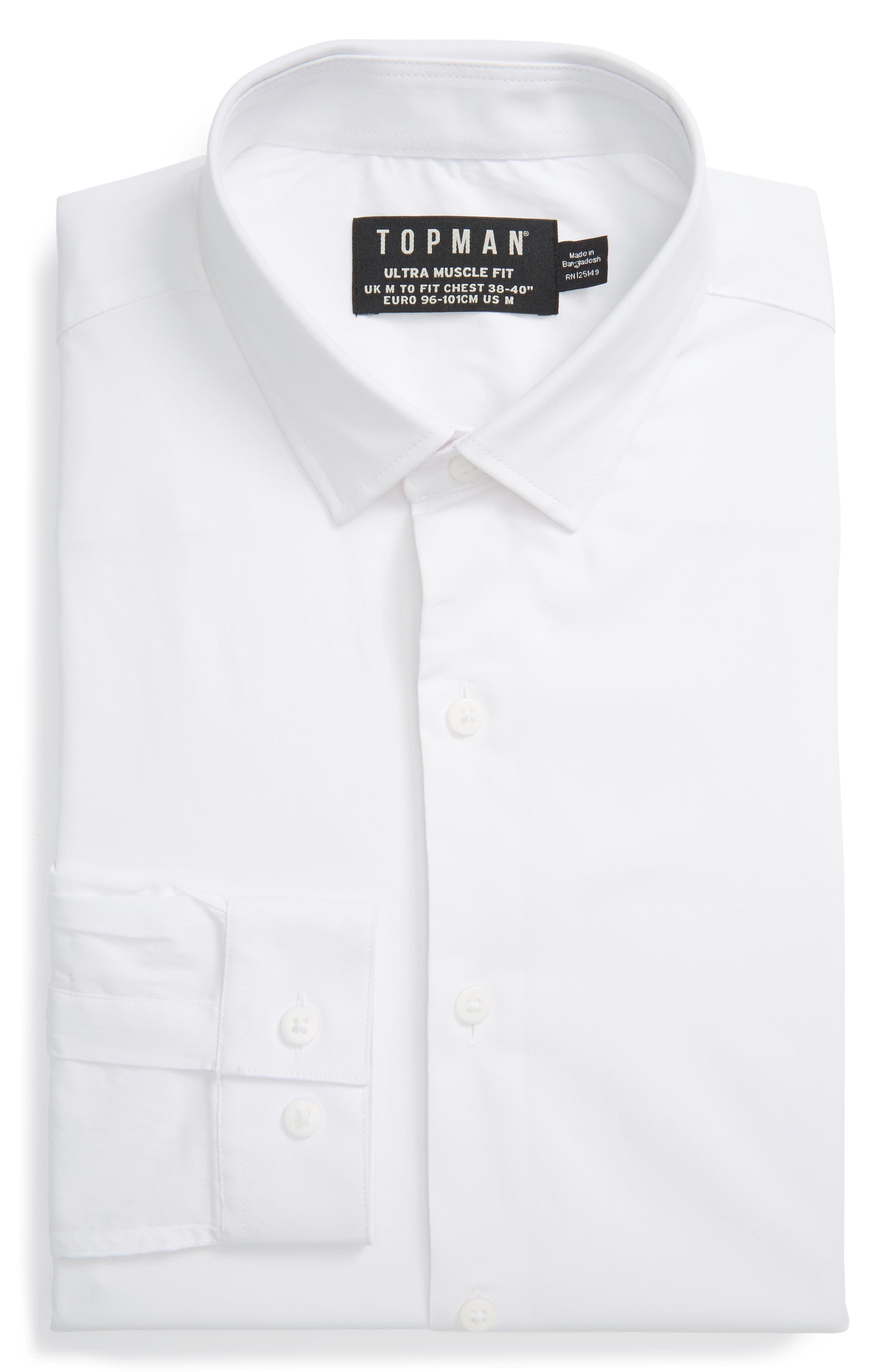 Topman Ultra Muscle Fit Dress Shirt
