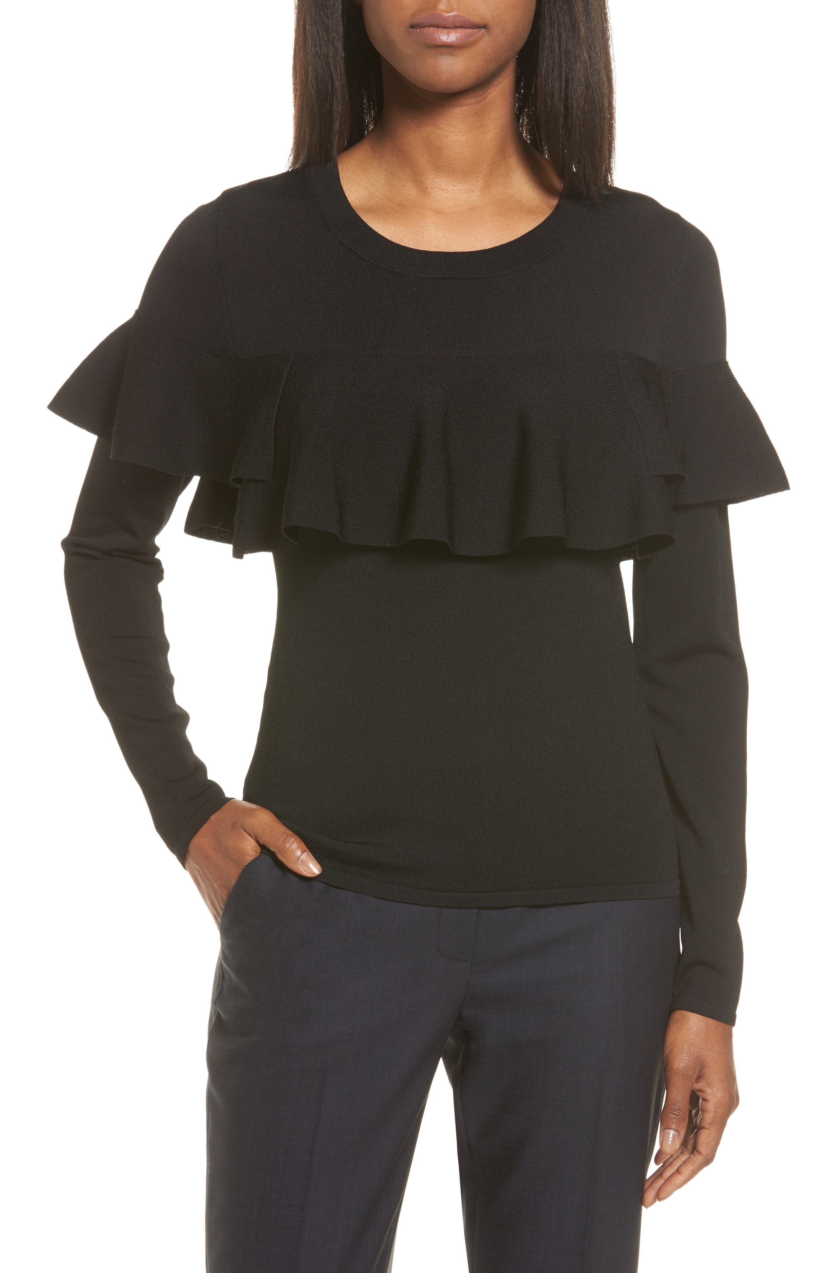 Classiques Entier® Layered Ruffle Sweater