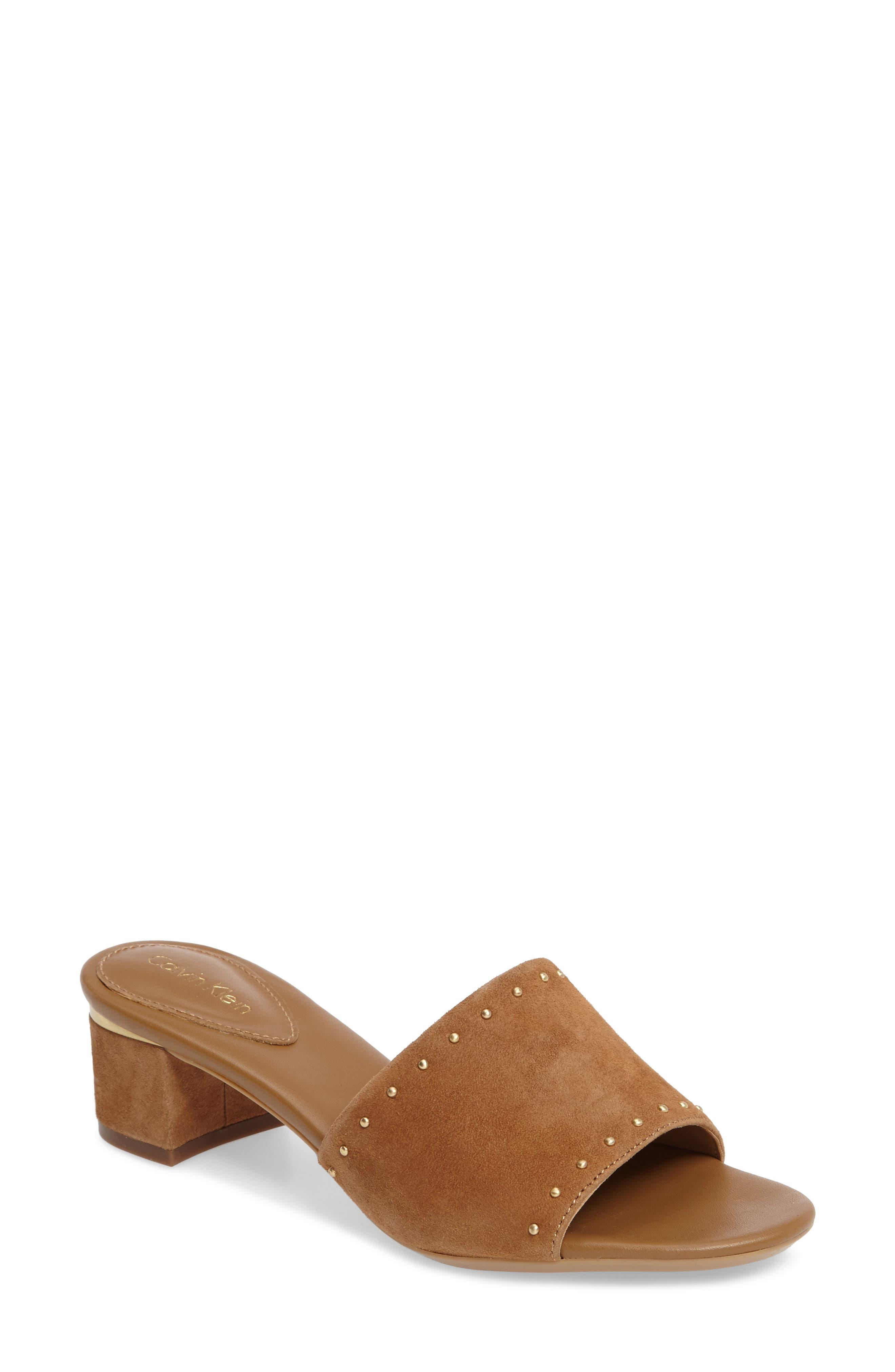 Calvin Klein Dixie Studded Slide Sandal (Women)