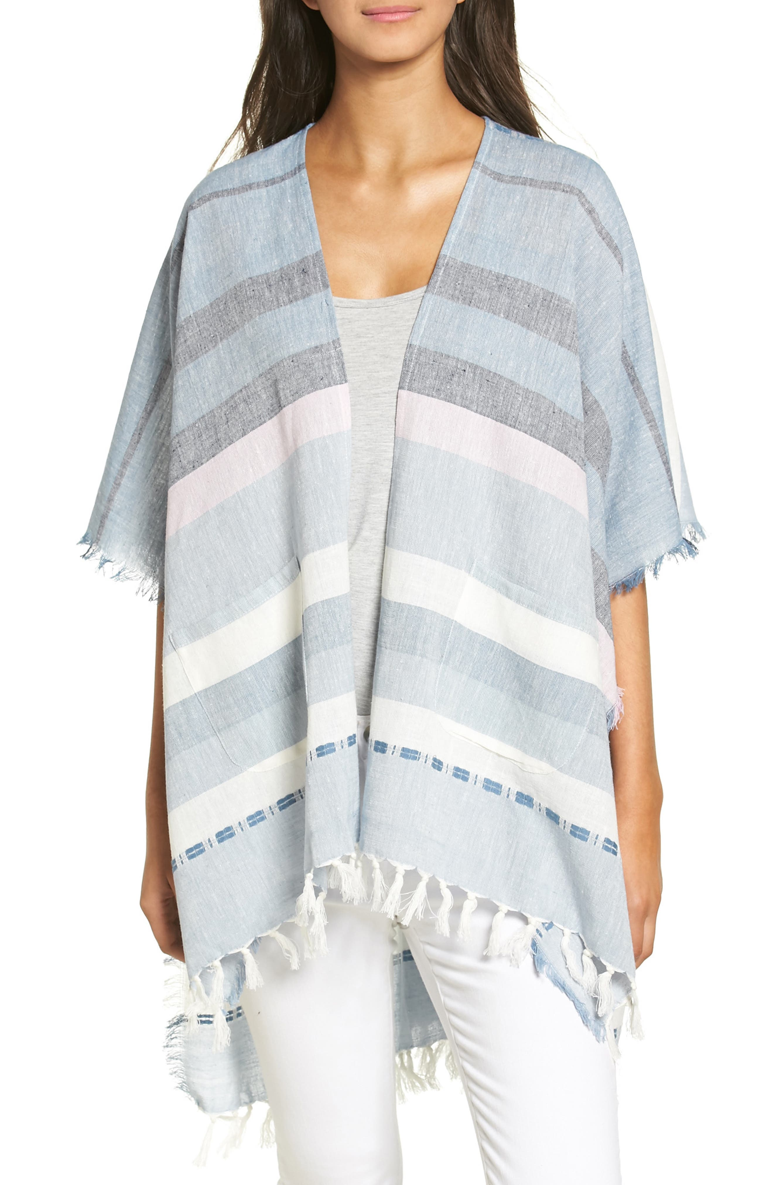 Echo Blanket Stripe Poncho