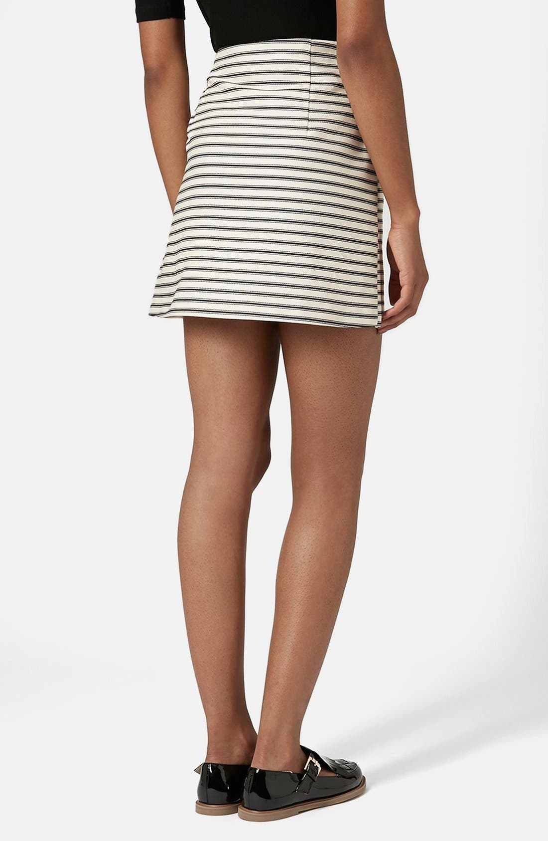 Alternate Image 2  - Topshop Stripe Button Wrap Skirt