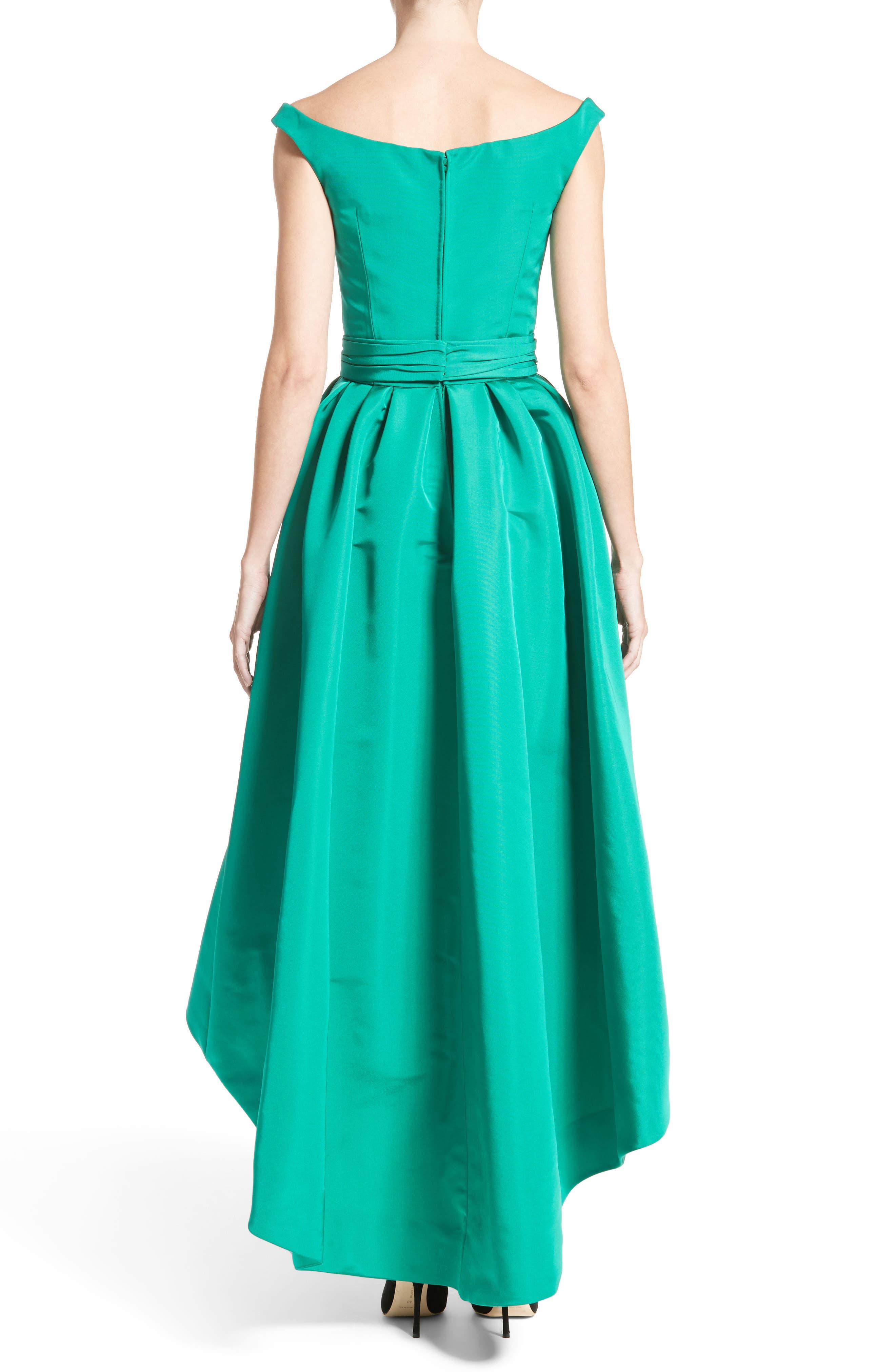 Alternate Image 2  - Carolina Herrera Off the Shoulder Silk Faille Gown