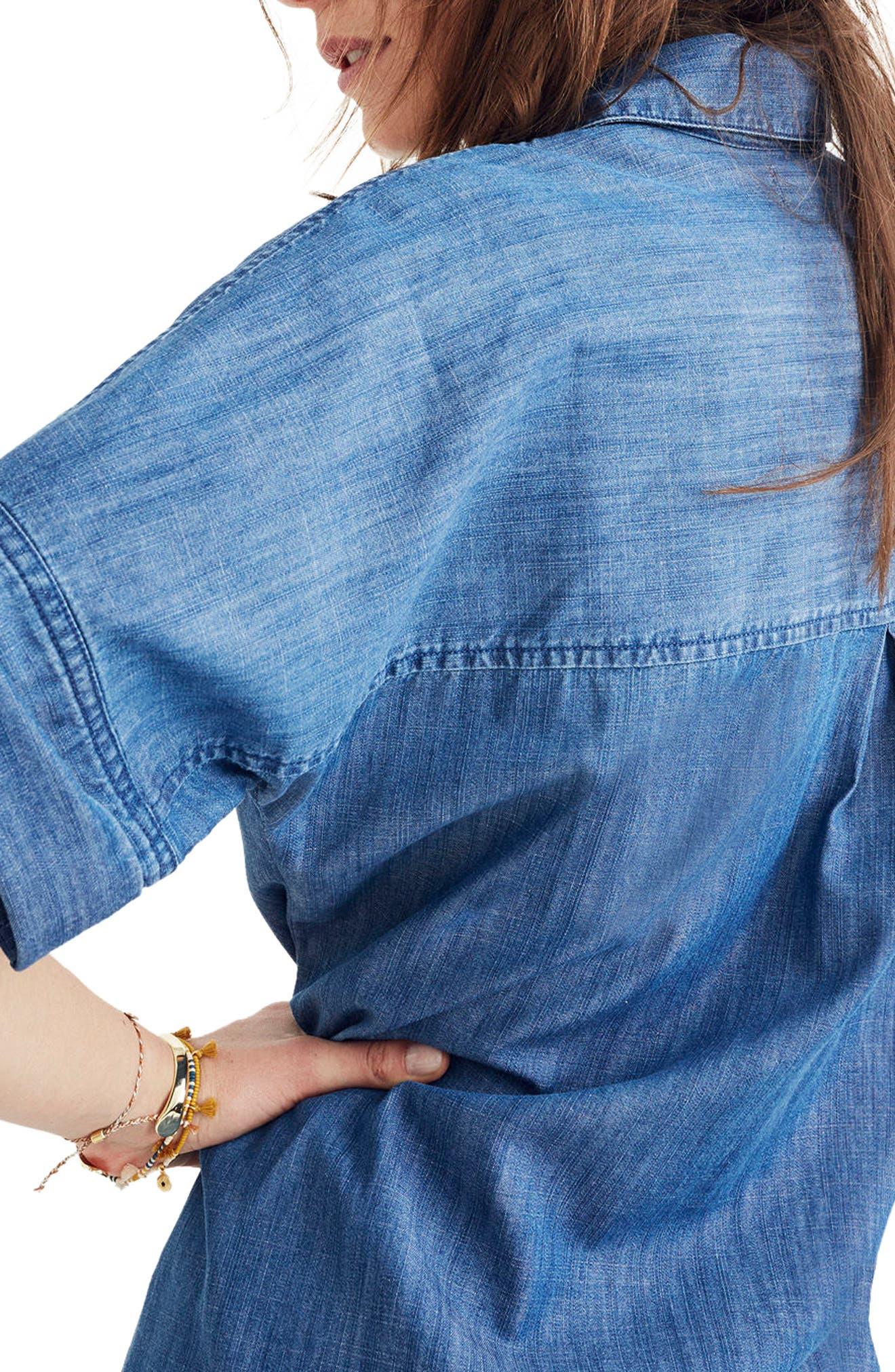 Alternate Image 2  - Madewell Raw Edge Denim Shirtdress