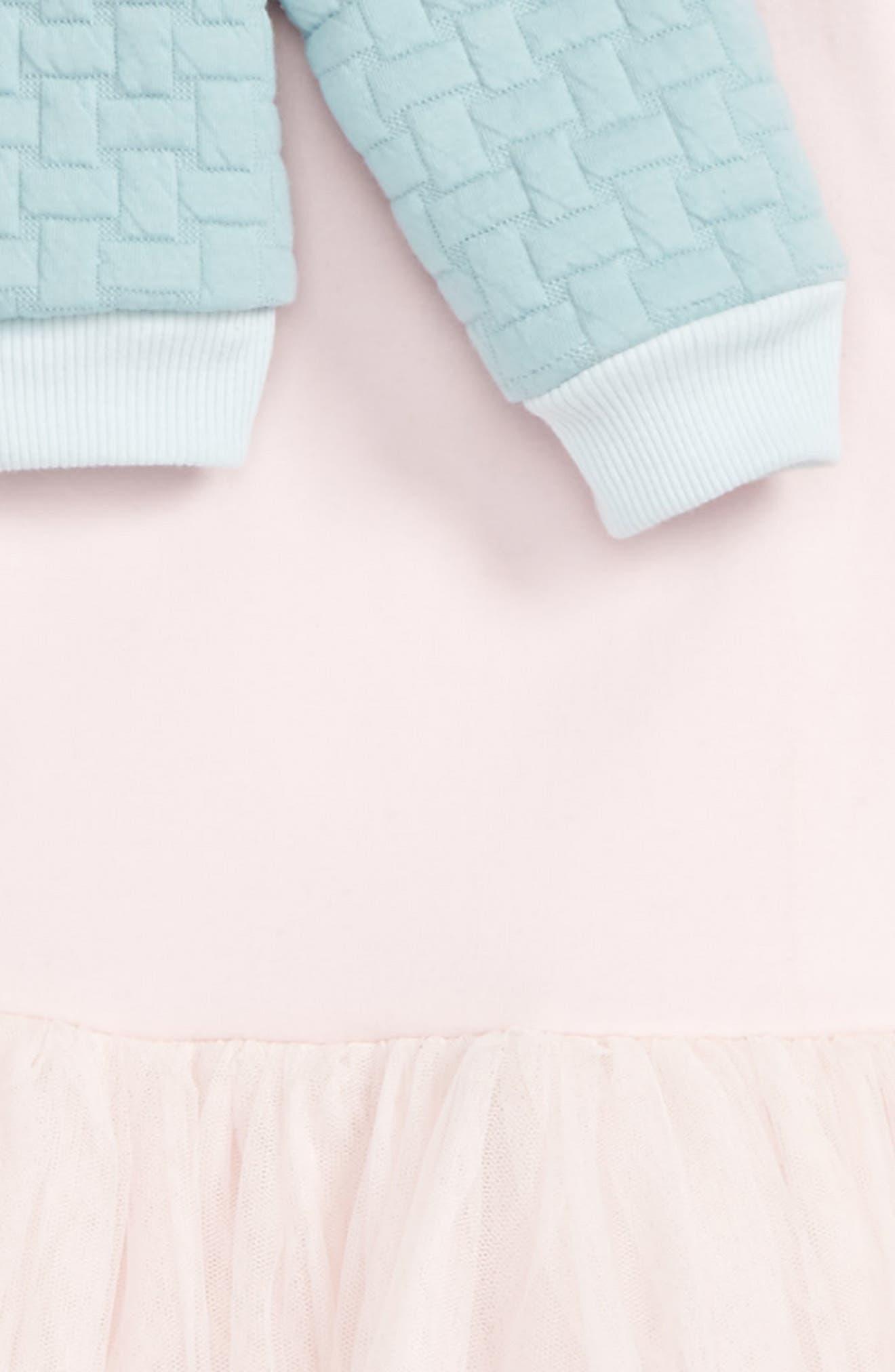 Alternate Image 3  - Pippa & Julie Bomber Jacket & Tulle Dress Set (Toddler Girls & Little Girls)