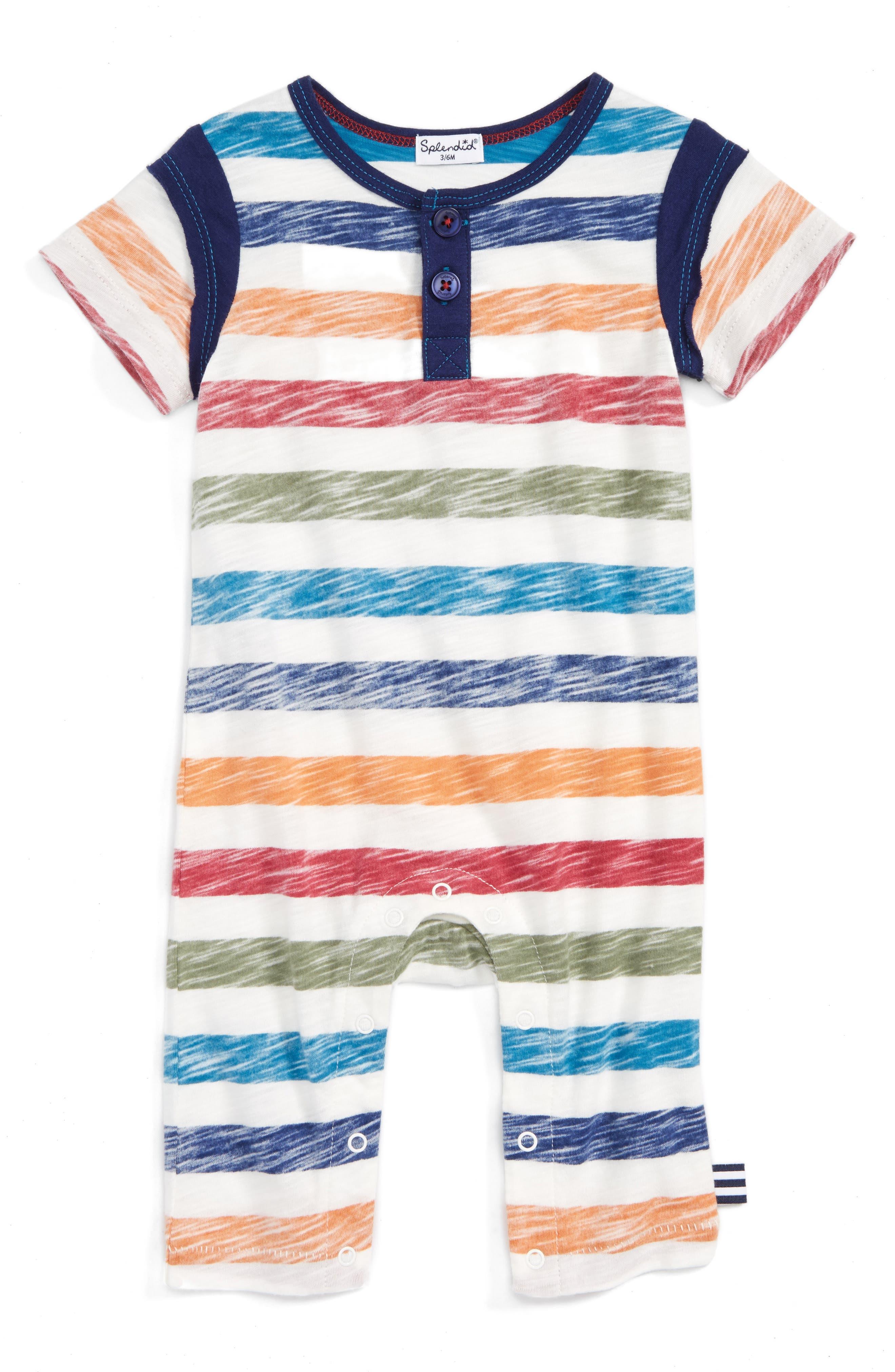 Splendid Stripe Romper (Baby Boys)
