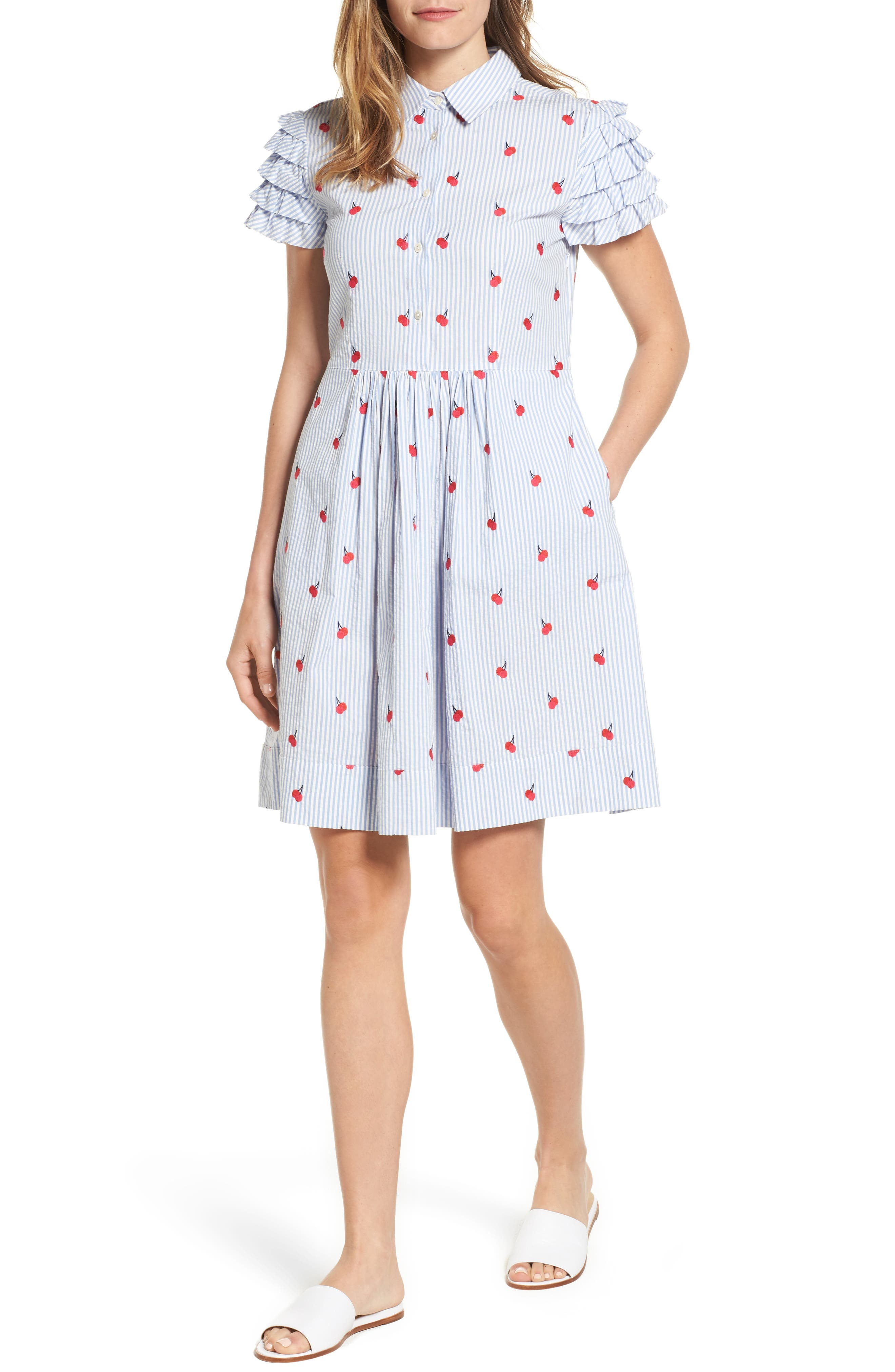 Draper James Seersucker Shirtdress