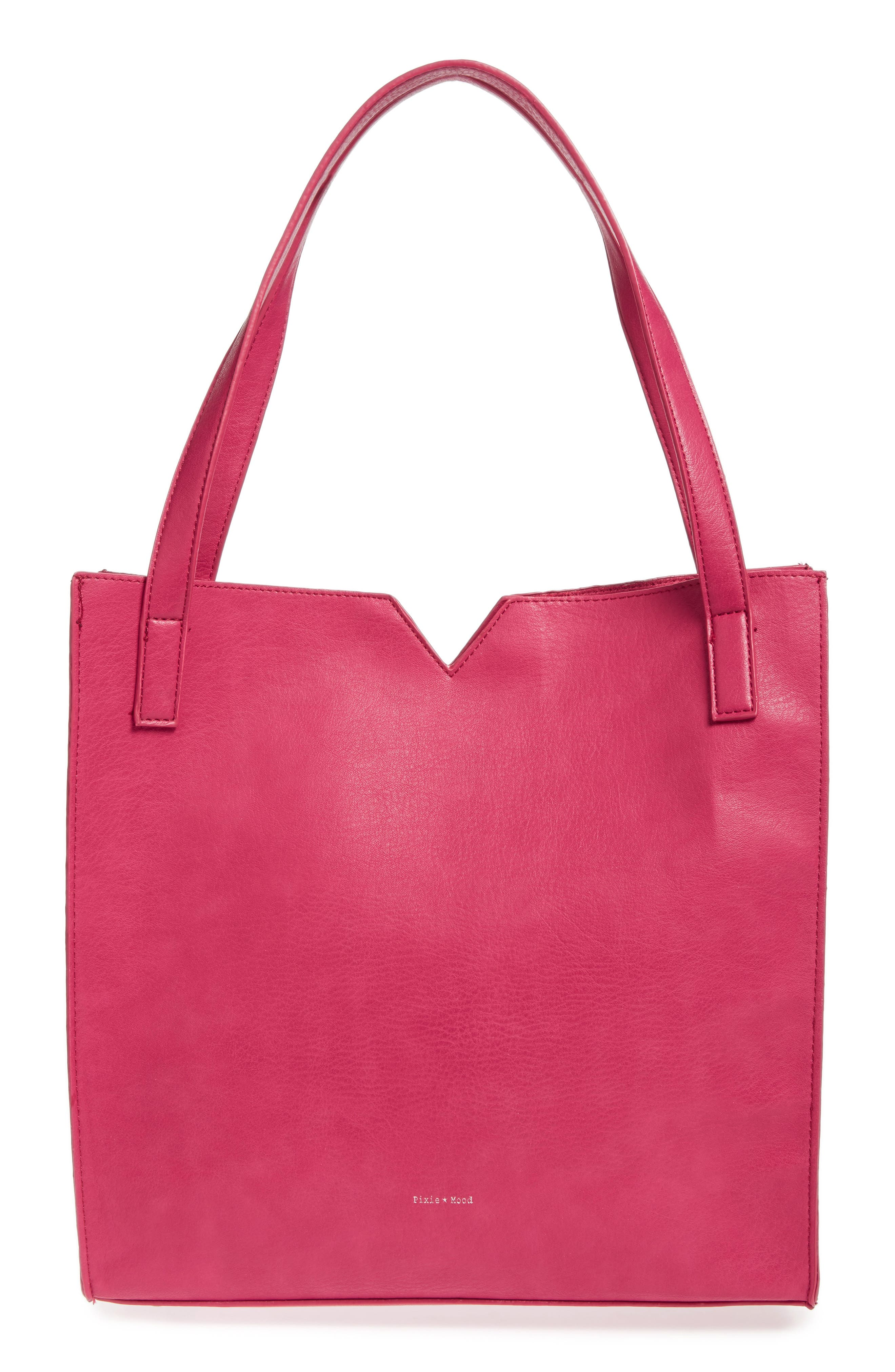 Pixie Mood Alicia Faux Leather Tote Bag & Pouch Set