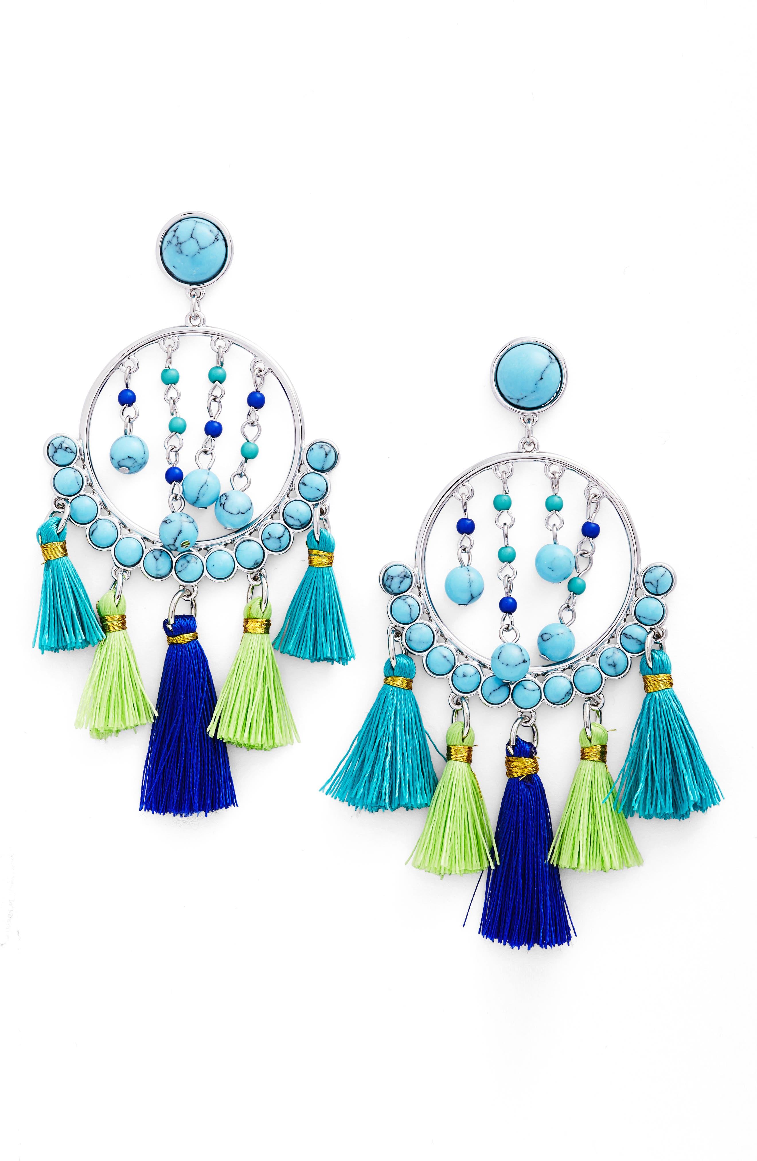 Rebecca Minkoff Tassel Drop Earrings