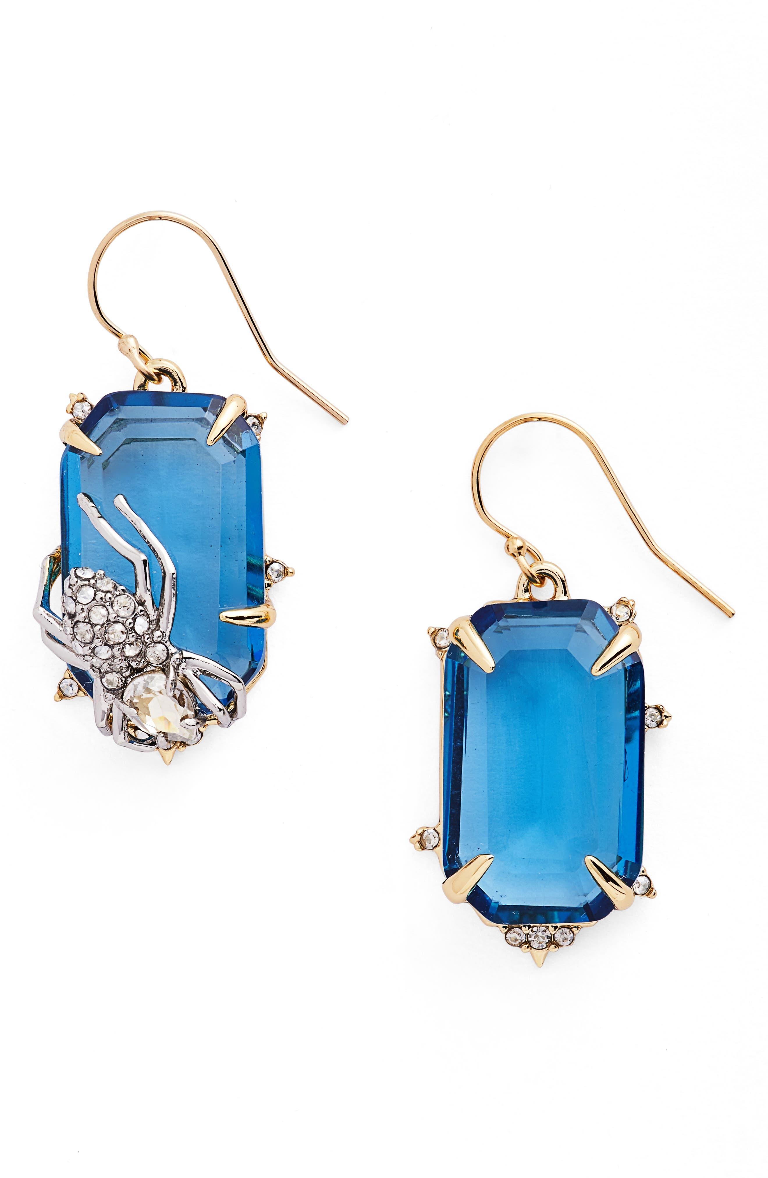 Alexis Bittar Encrusted Spider Drop Earrings