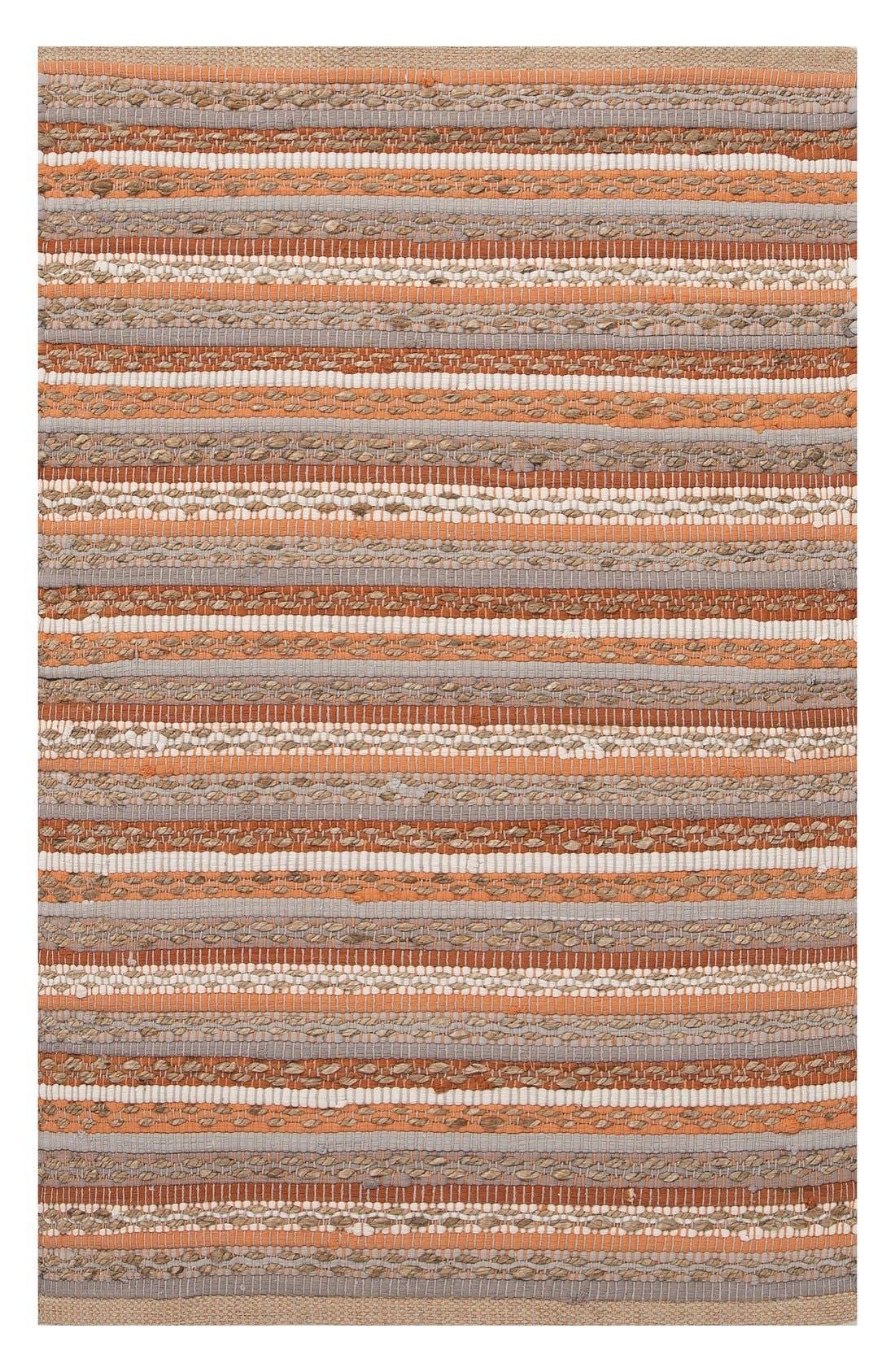 Alternate Image 1 Selected - Jaipur 'Croydon' Cotton & Jute Accent Rug