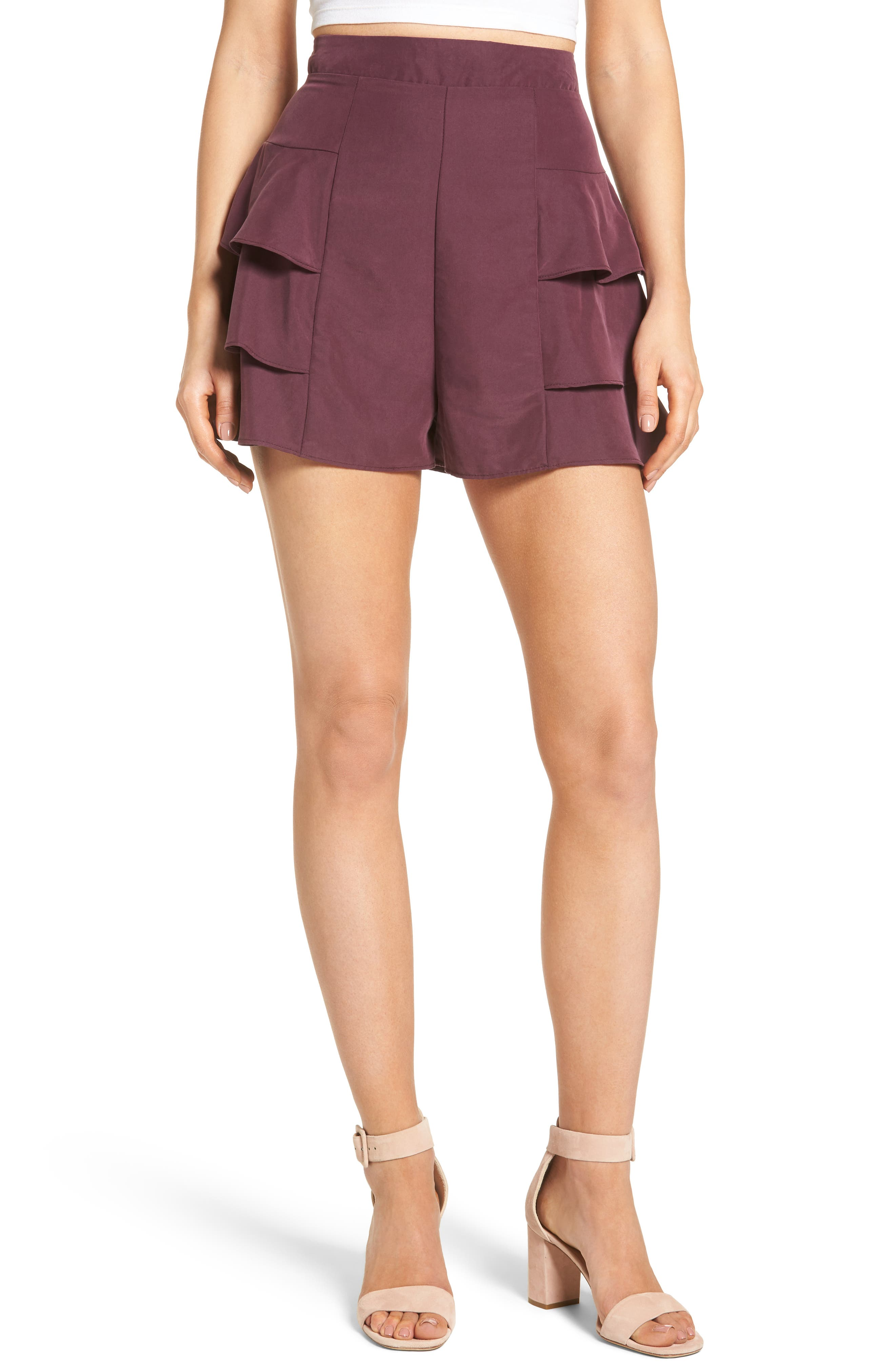 Leith Tiered Ruffle Shorts
