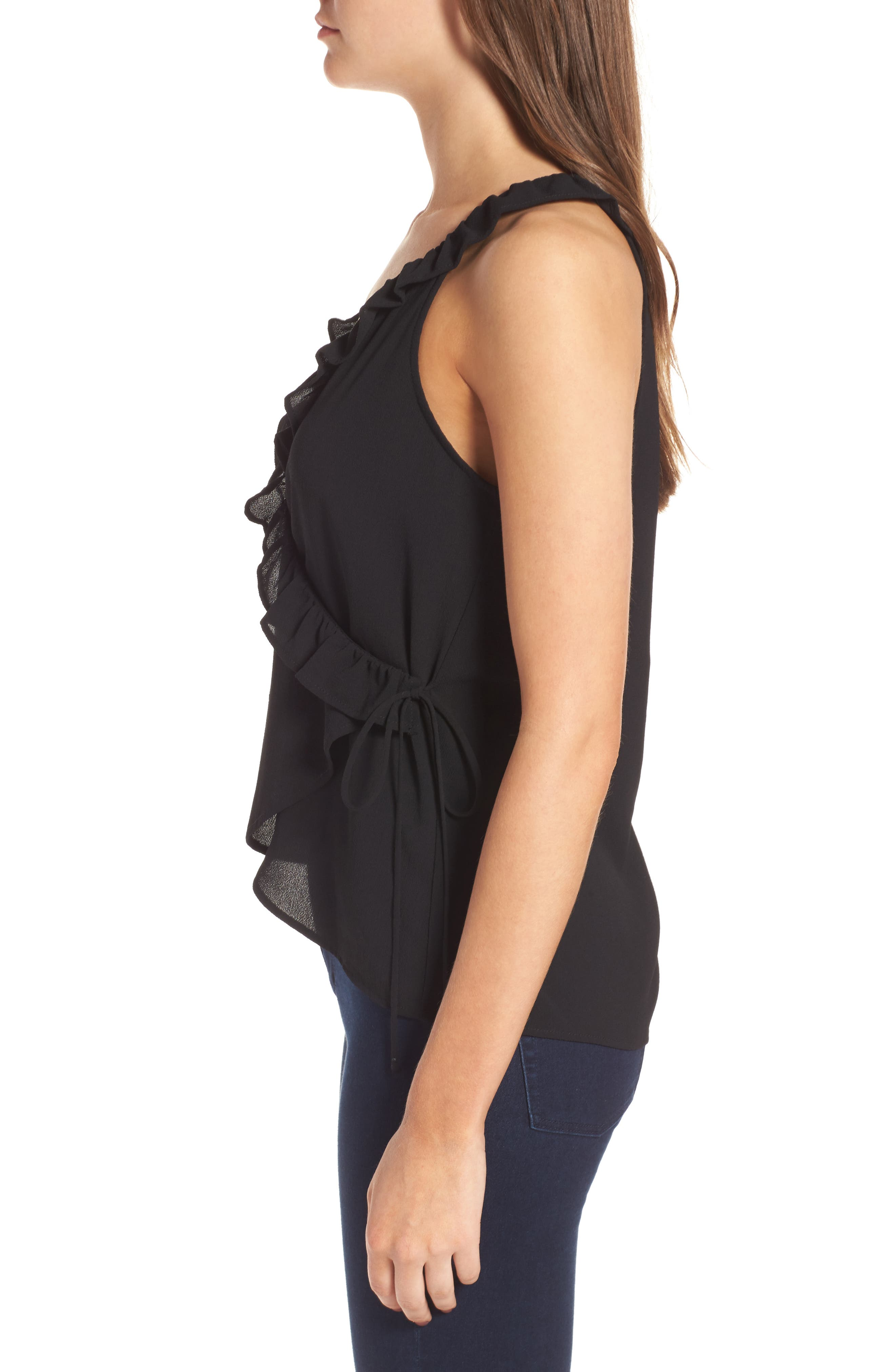 Alternate Image 3  - Leith Ruffle Ruffle Wrap Tank