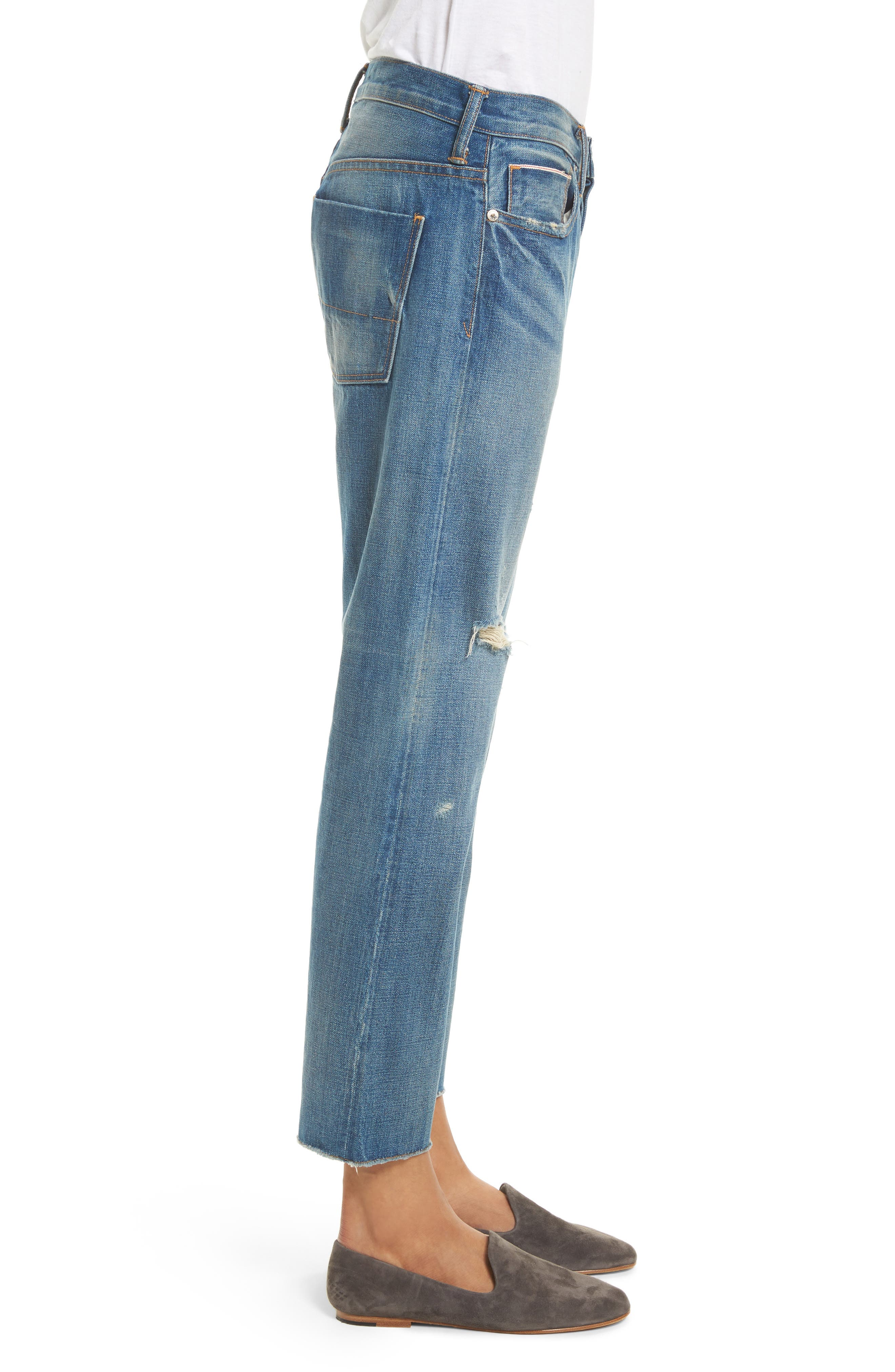 Alternate Image 4  - Vince Union Distressed Slouch Jeans