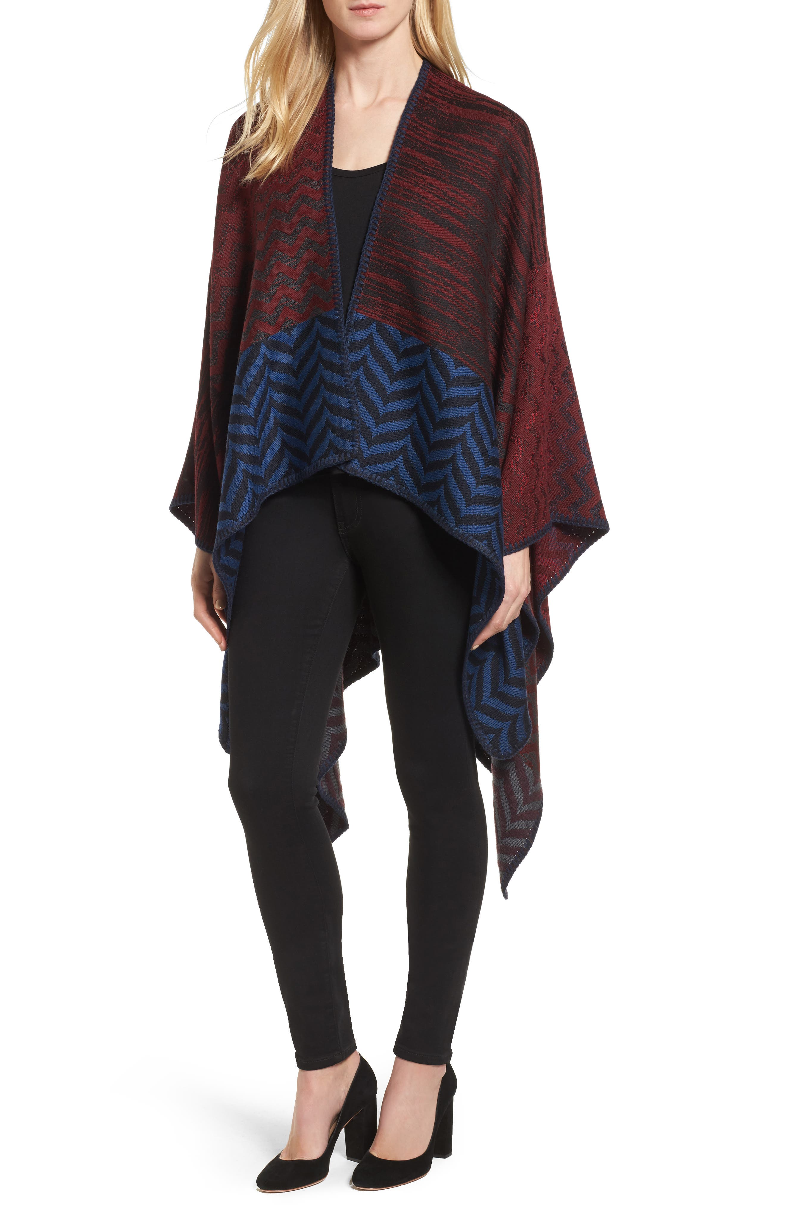 Missoni Knit Wool Blend Cape
