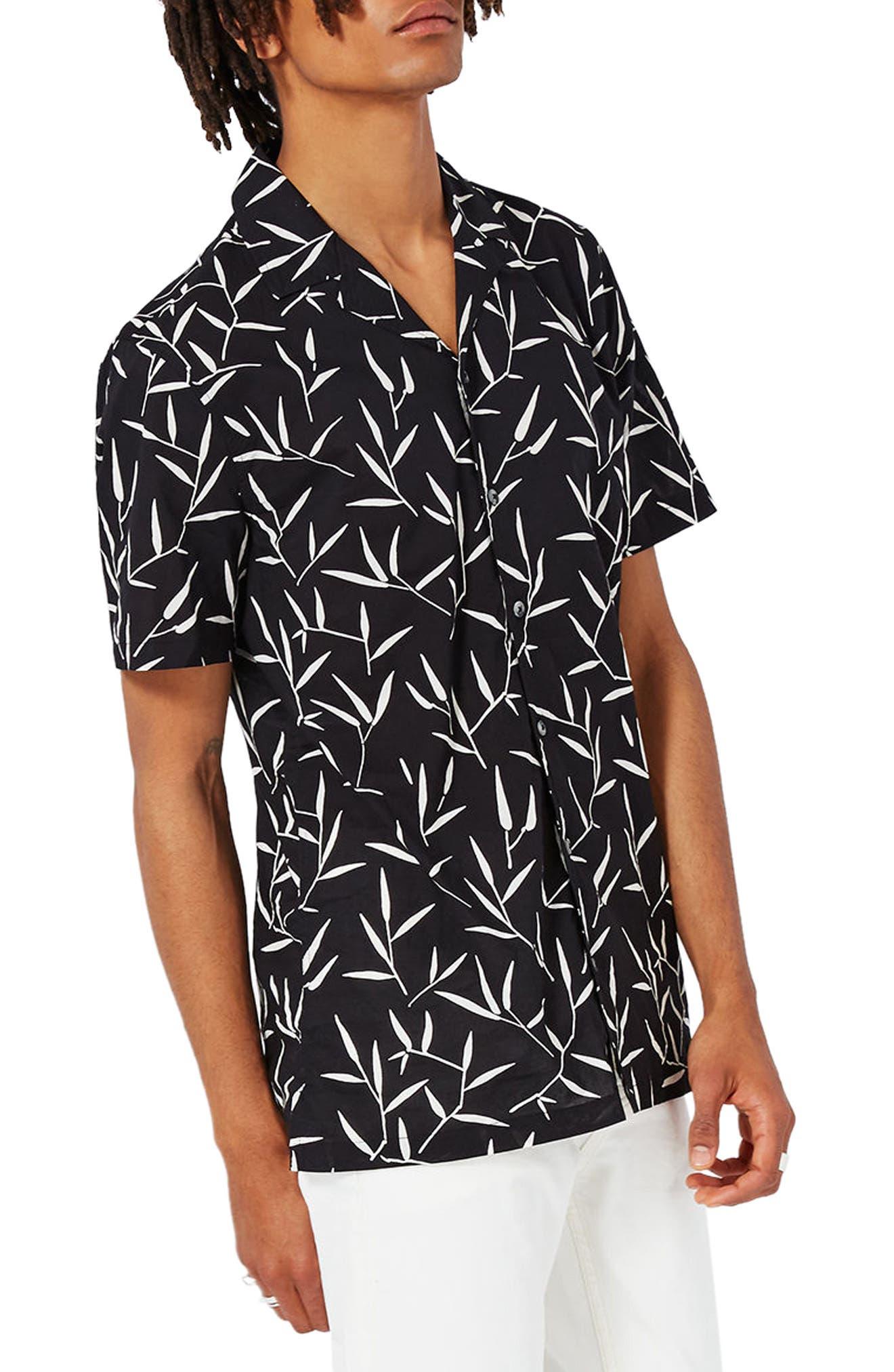 Topman Leaf Print Shirt
