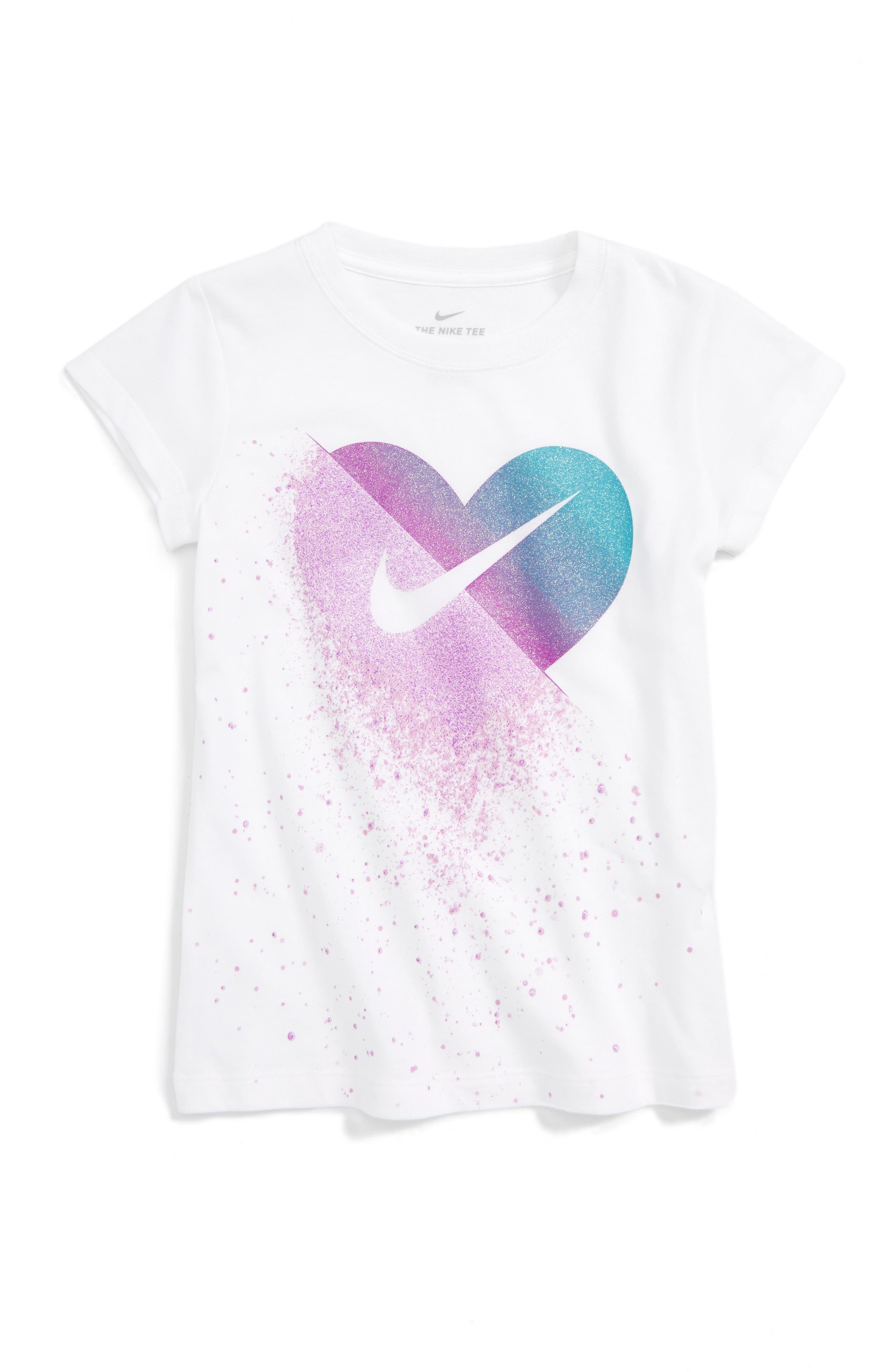 Nike Glitter Heart Graphic Tee (Toddler Girls & Little Girls)