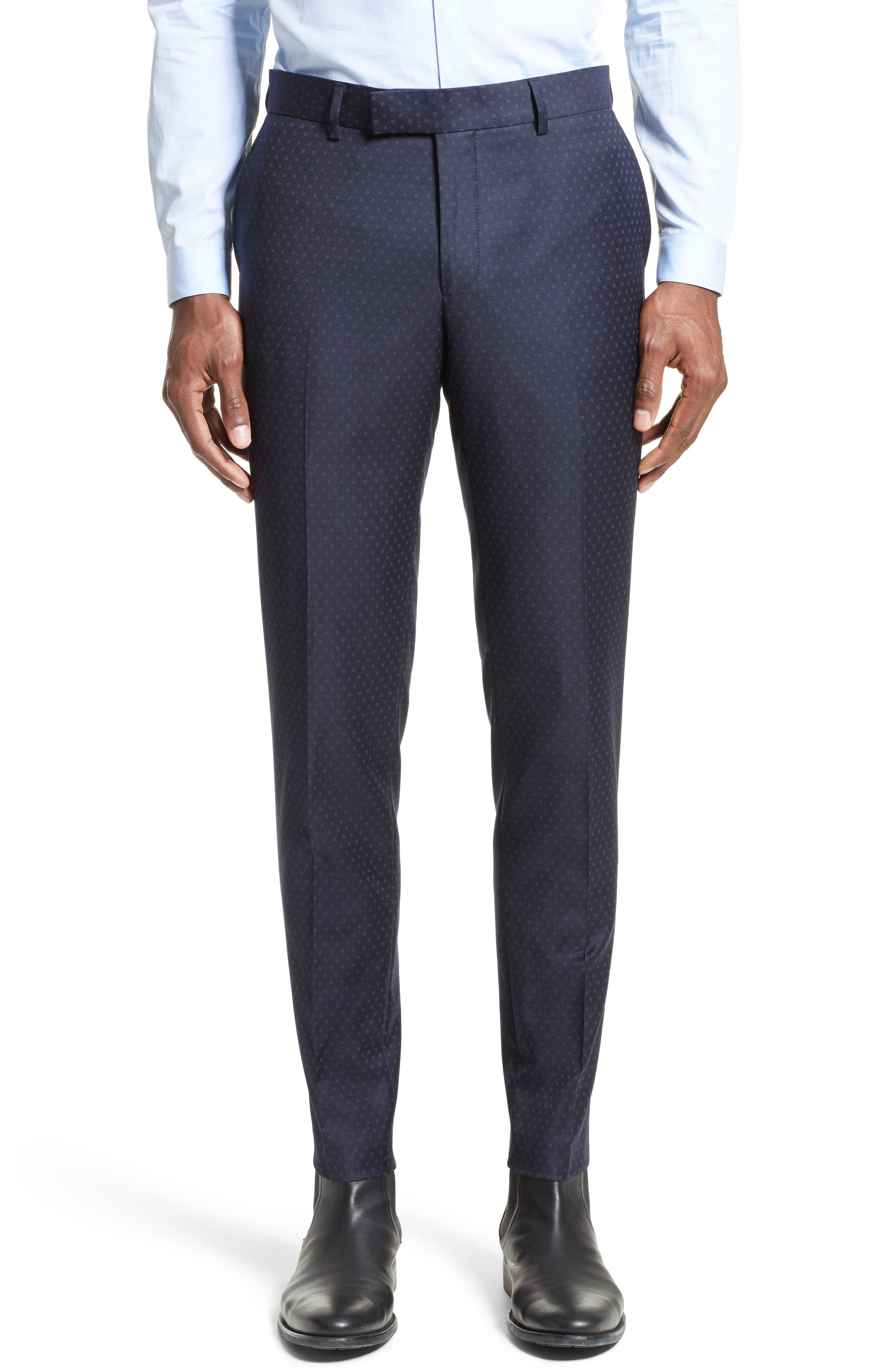 The Kooples Print Wool Suit Trousers