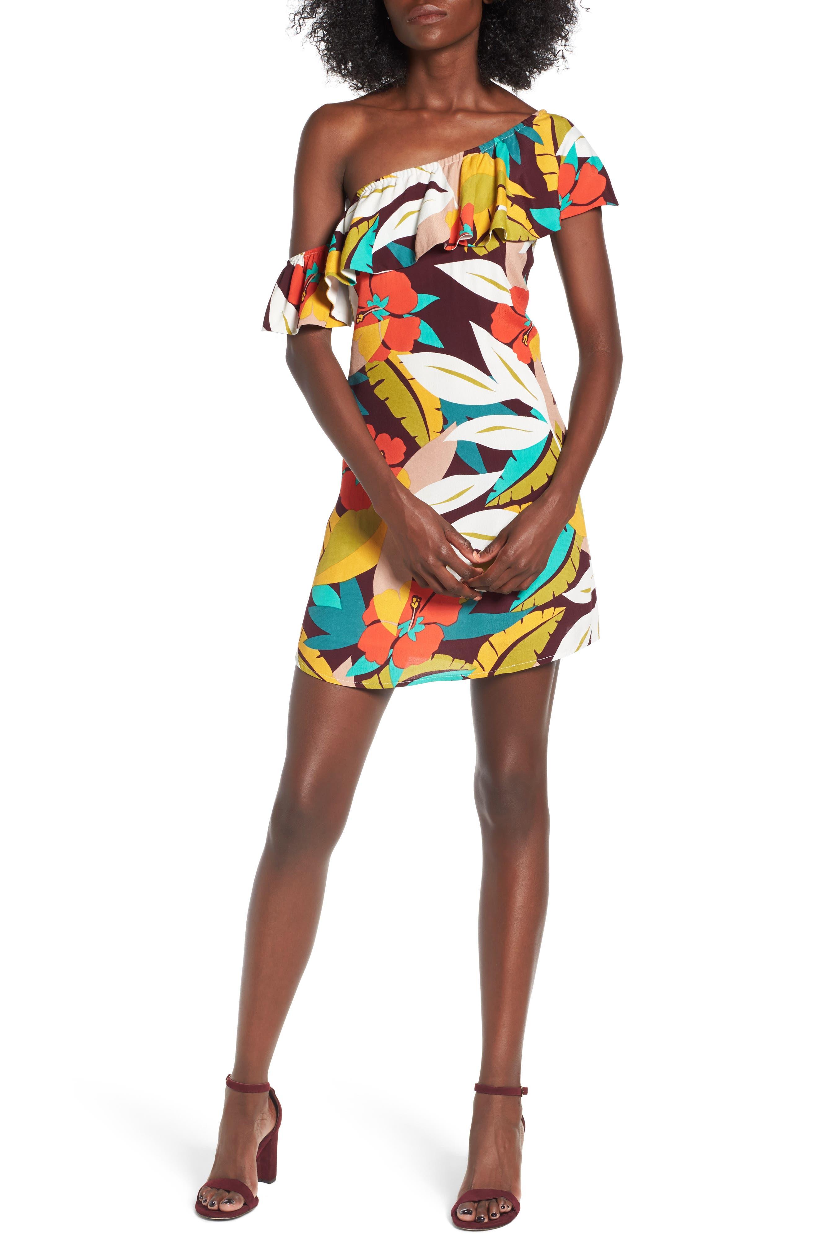 ASTR the Label Marisol One-Shoulder Minidress