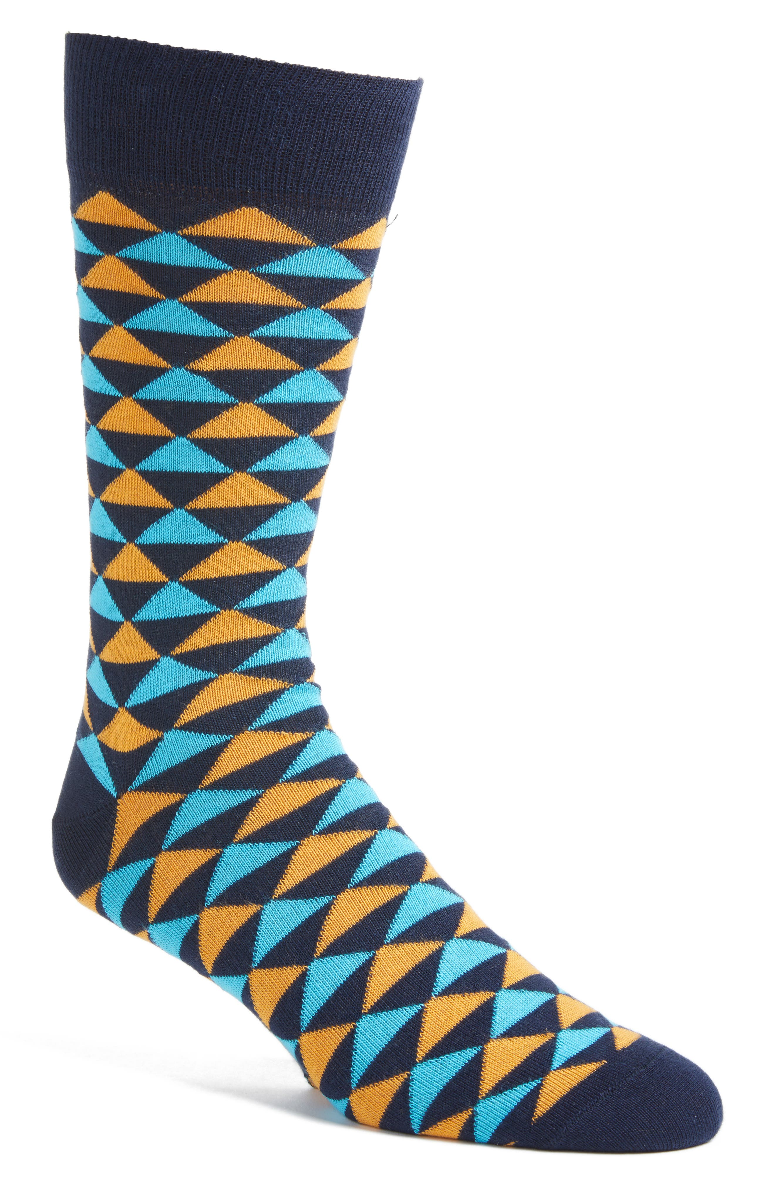 Lorenzo Uomo Triangles Crew Socks