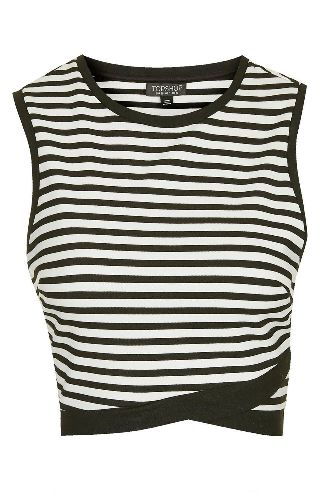 Alternate Image 3  - Topshop Stripe Shell Top
