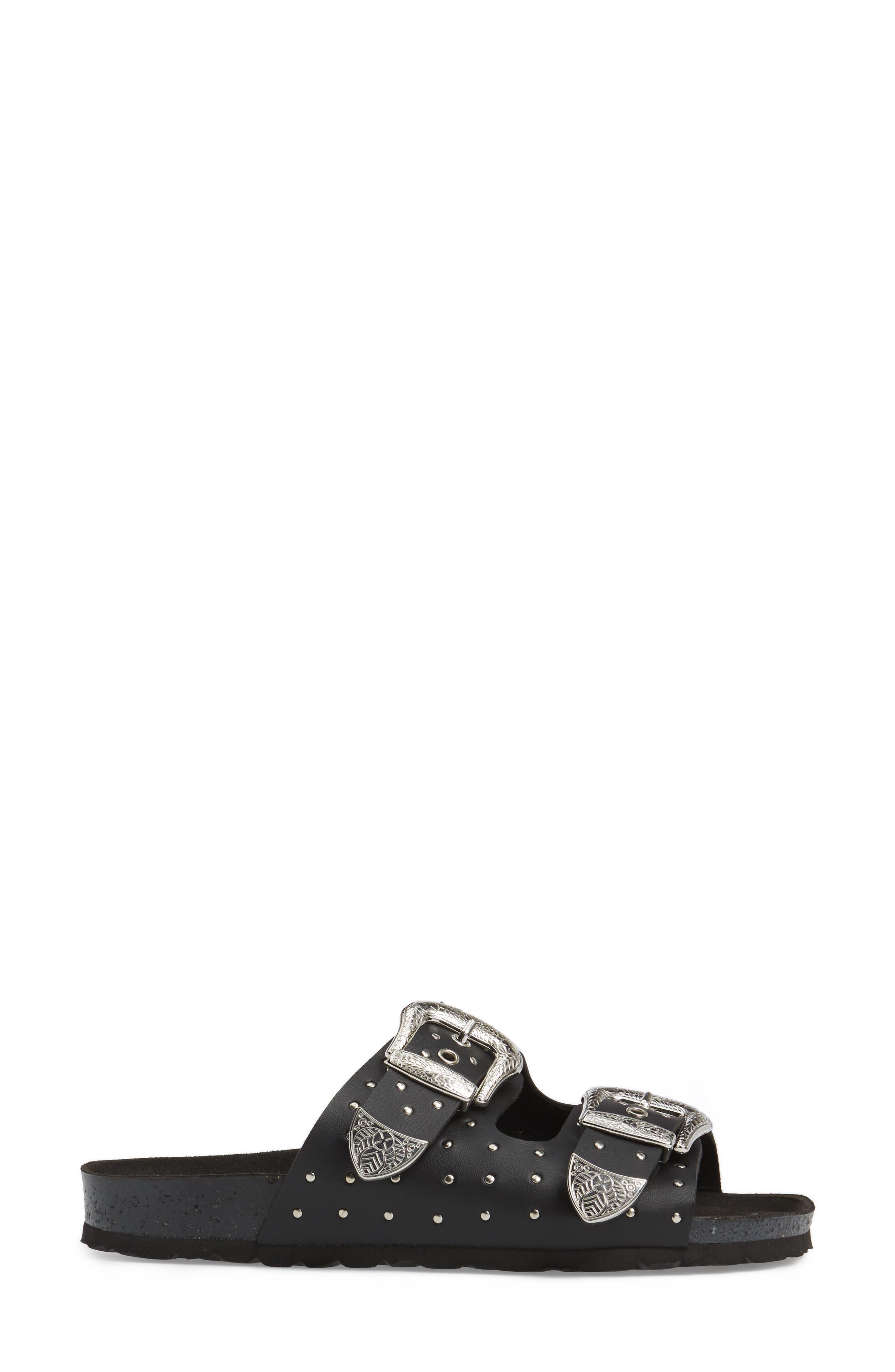 Alternate Image 3  - Topshop Falcon Studded Concho Buckle Sandal (Women)