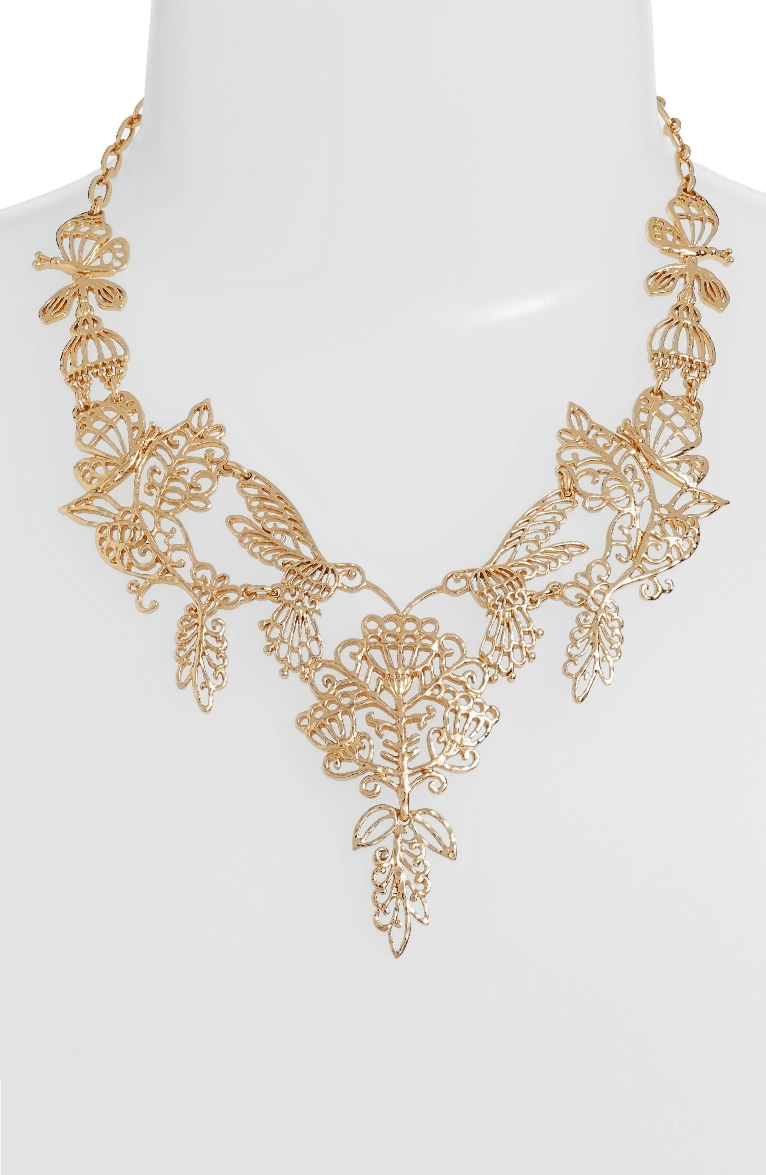 Alternate Image 2  - kate spade new york golden age statement necklace