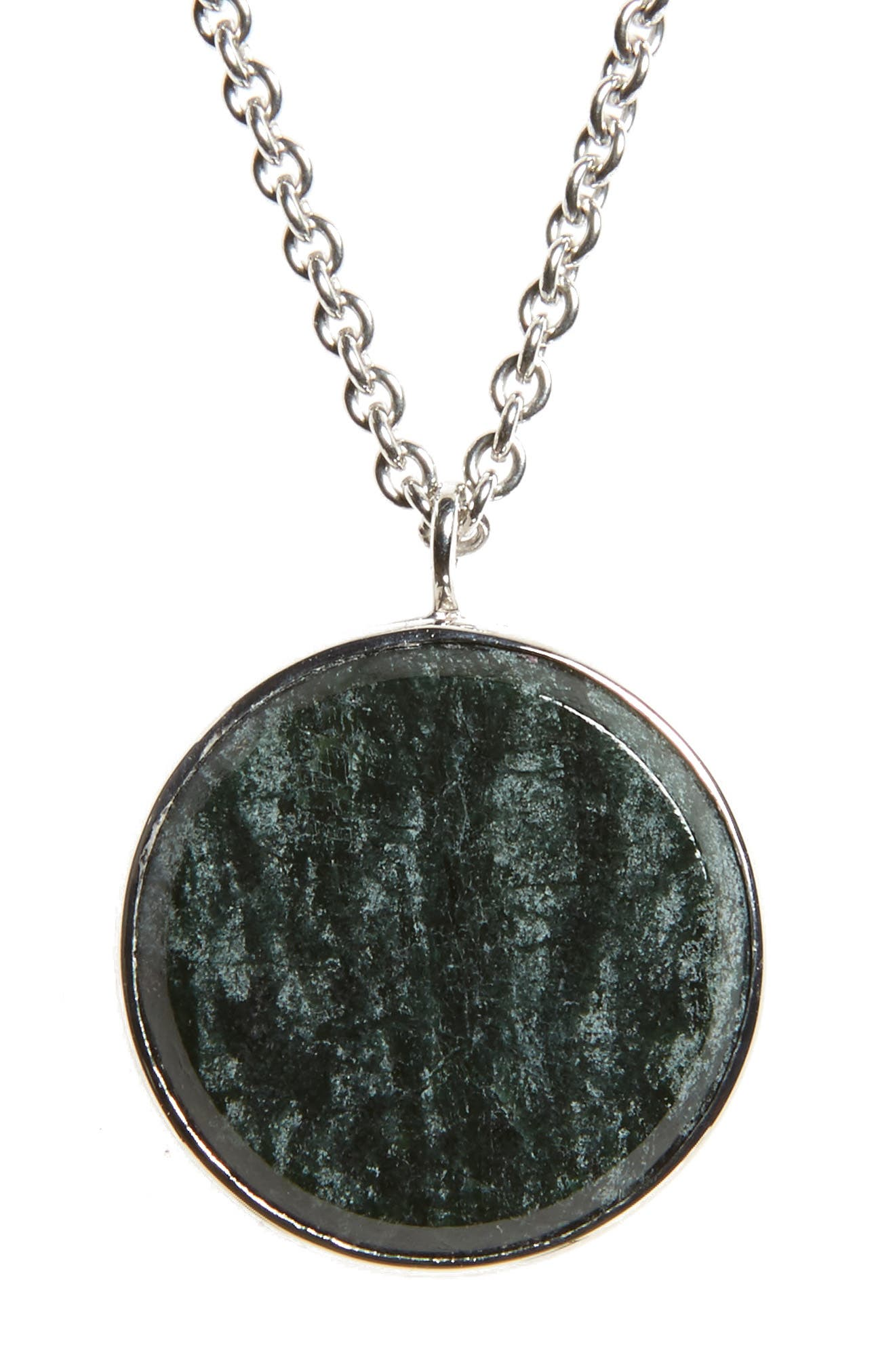 Tom Wood Green Marble Medallion Necklace