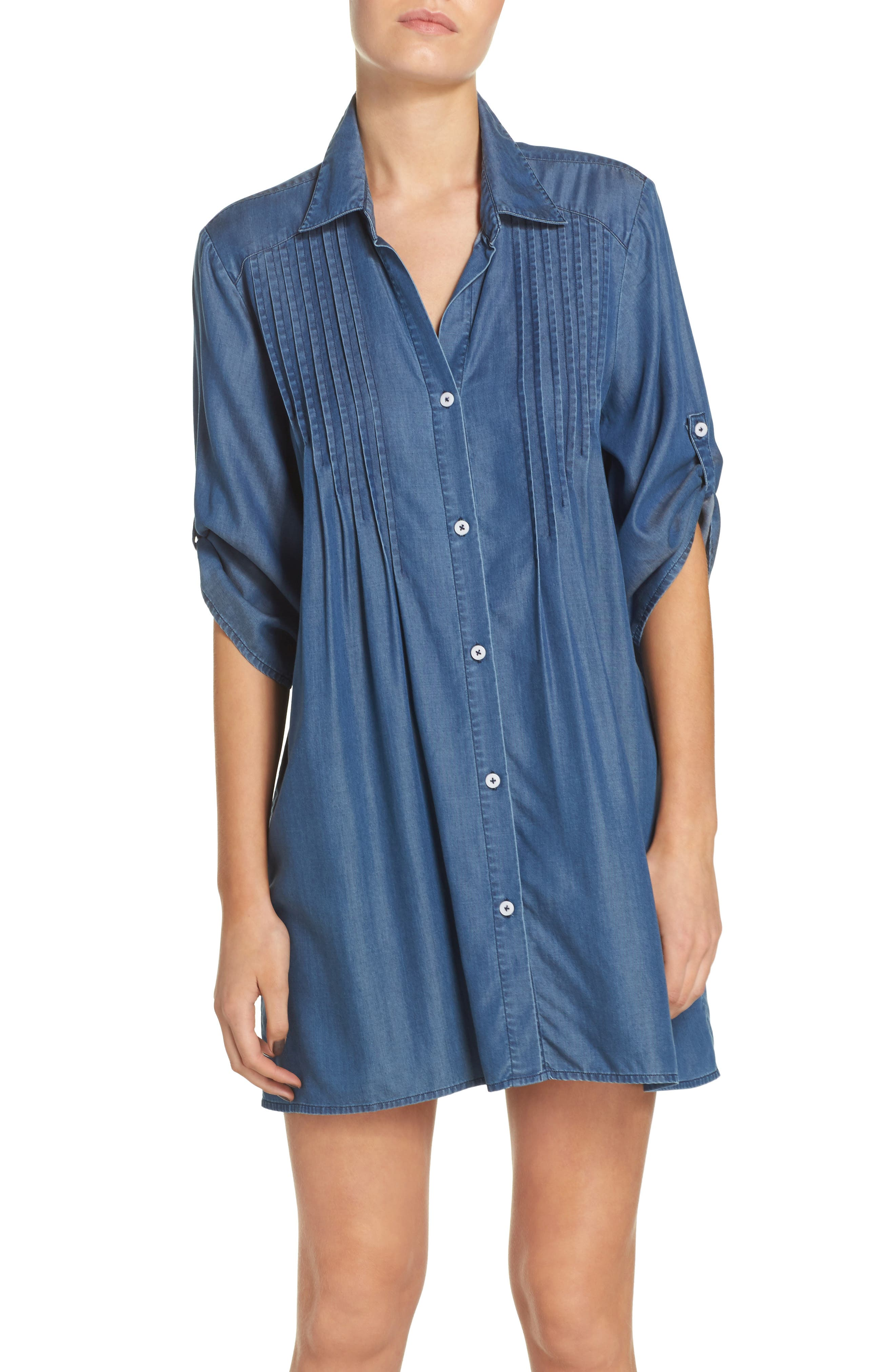 Tommy Bahama Chambray Cover-Up Tunic