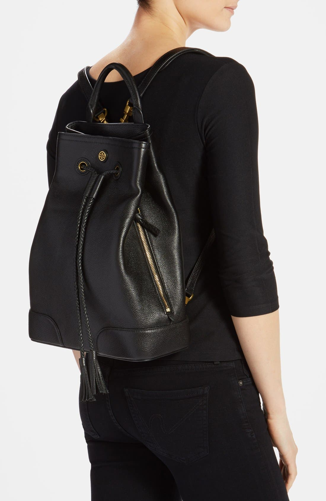 Alternate Image 2  - Tory Burch 'Frances' Leather Backpack