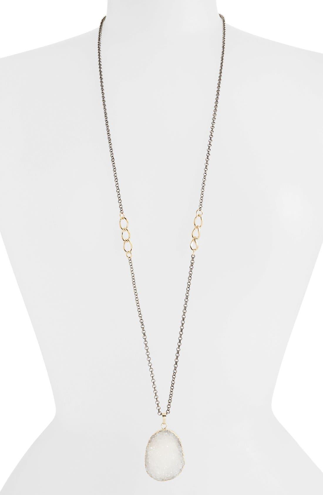Alternate Image 1 Selected - Panacea Glittering Drusy Pendant Necklace