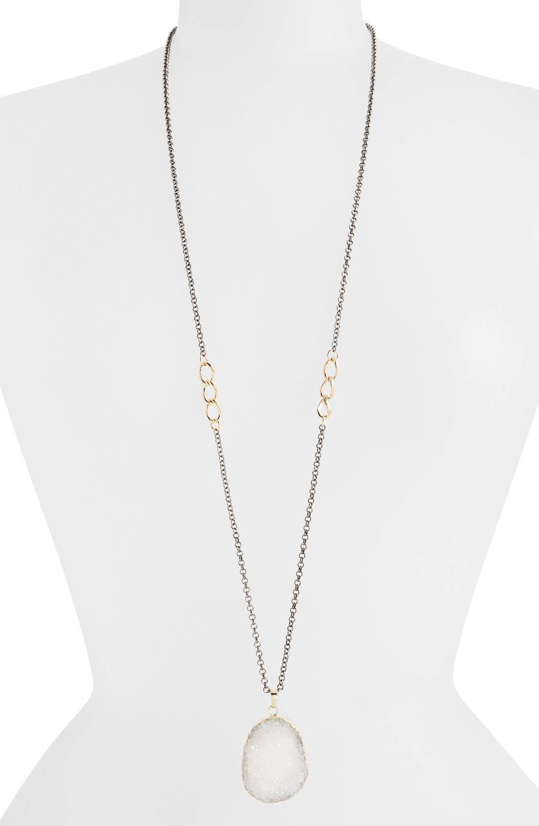 Main Image - Panacea Glittering Drusy Pendant Necklace