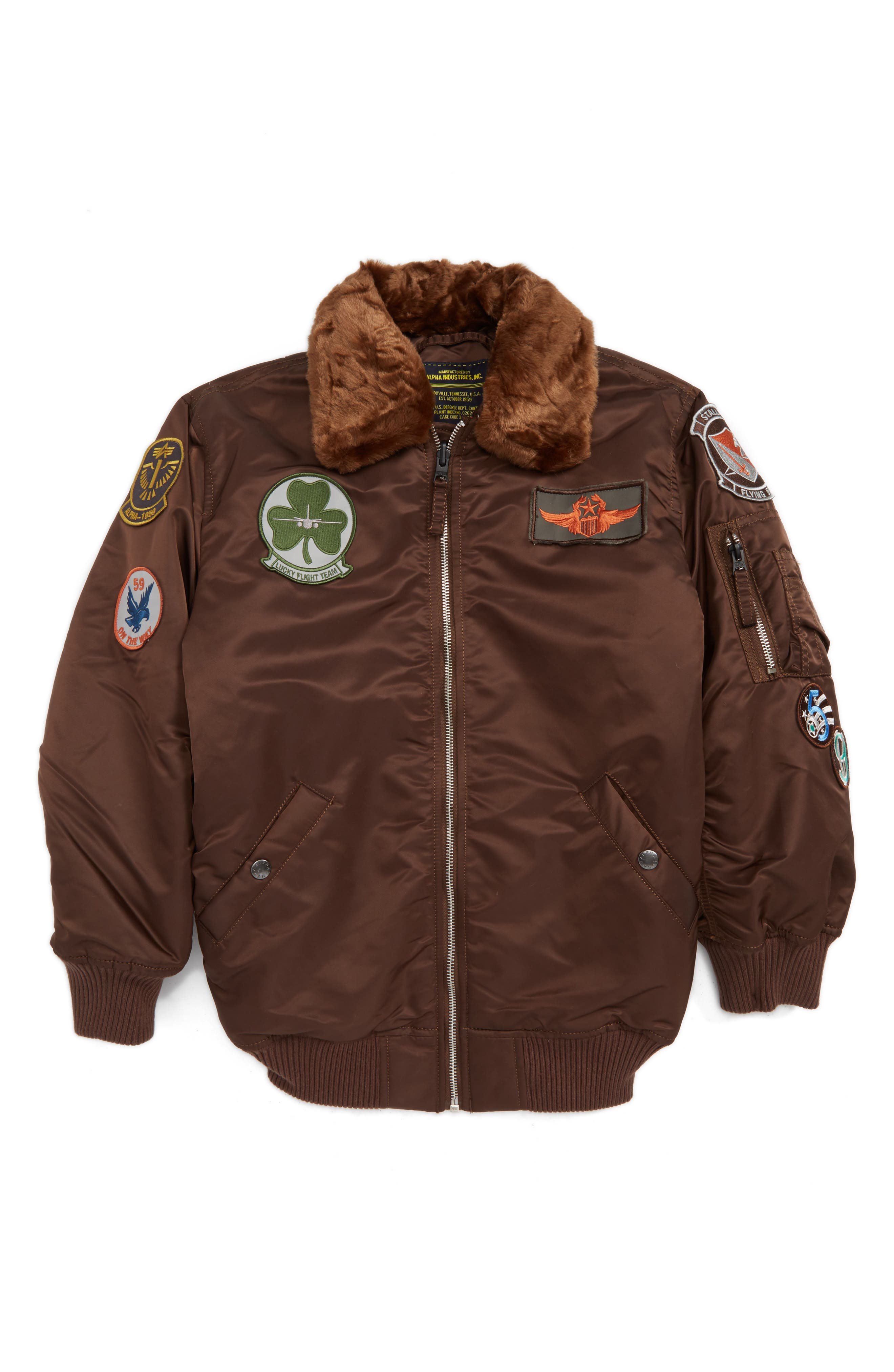 Alpha Industries Maverick Water Resistant Bomber Jacket (Toddler Boys & Little Boys)