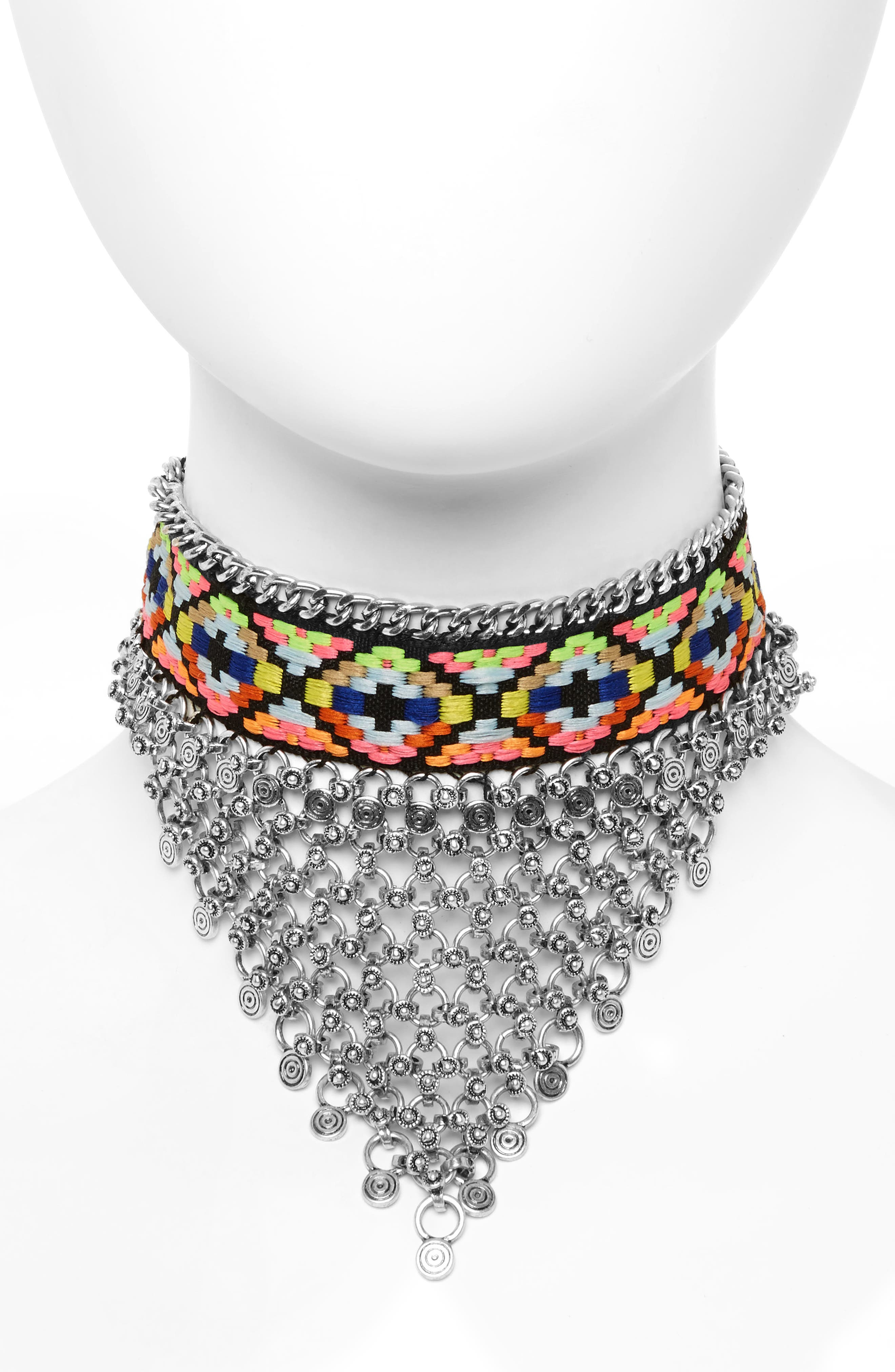 Topshop Woven Chainmail Choker
