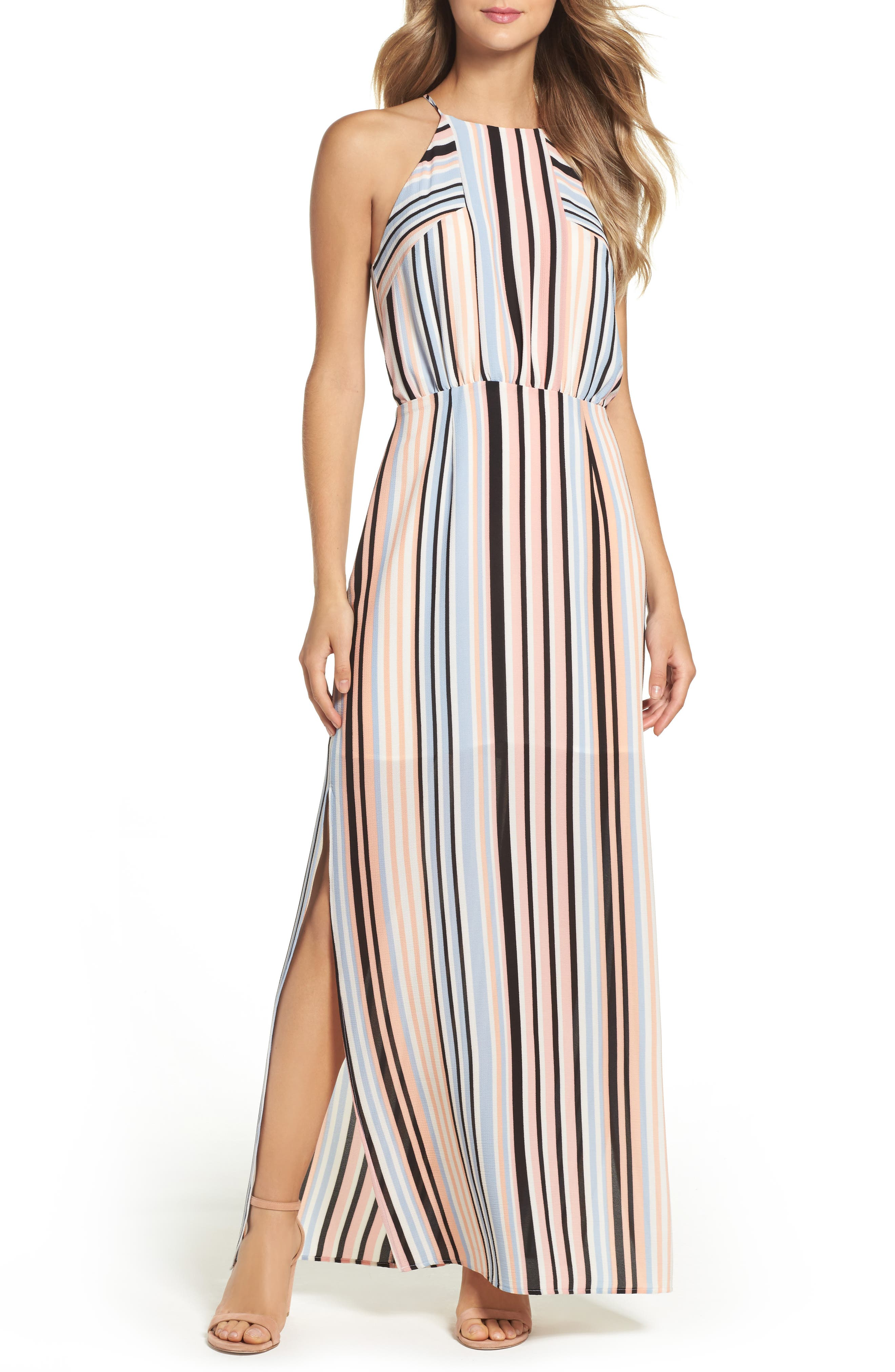 Charles Henry Woven Maxi Dress