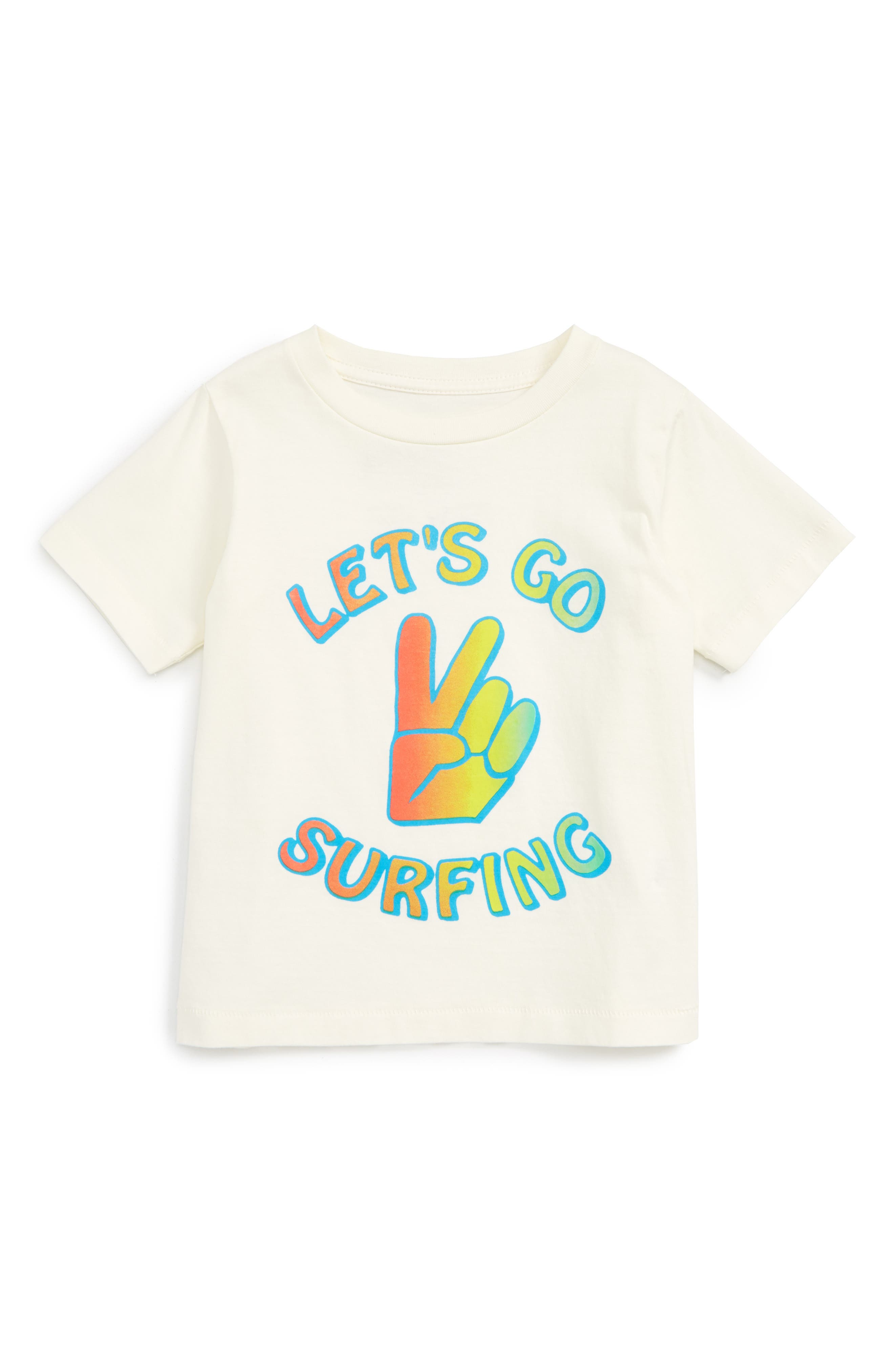 Peek Let's Go Surfing Graphic T-Shirt (Baby Boys)