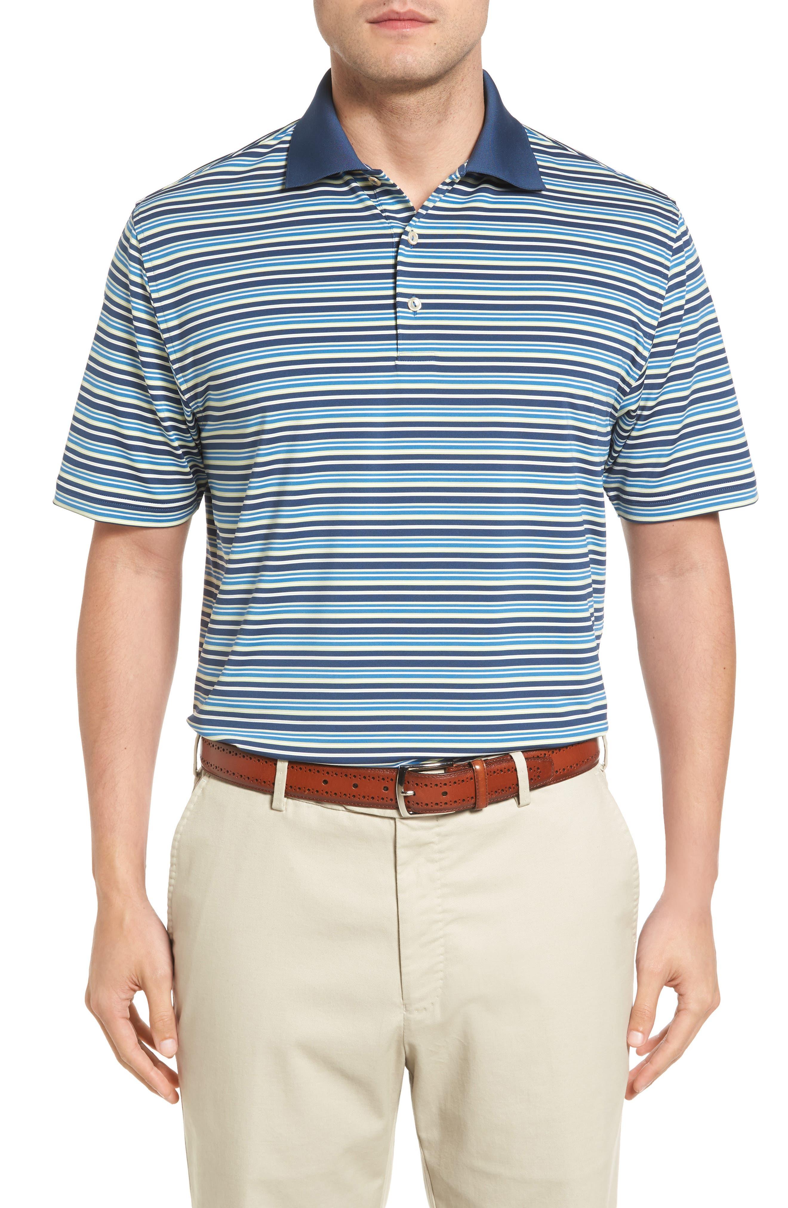 Peter Millar Pembroke Stripe Jersey Polo
