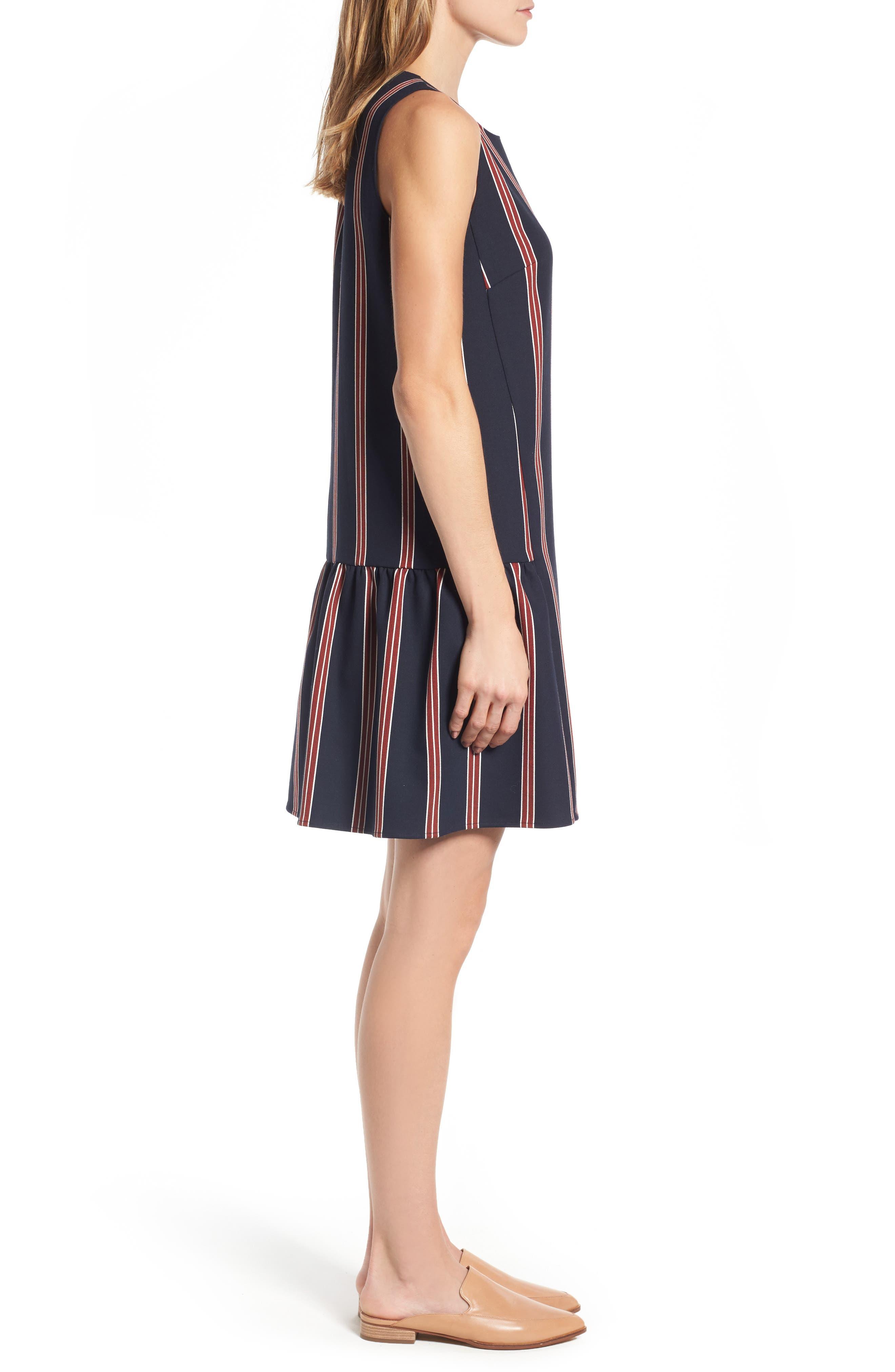 Alternate Image 4  - Halogen® Flounce Back Shift Dress (Regular & Petite)