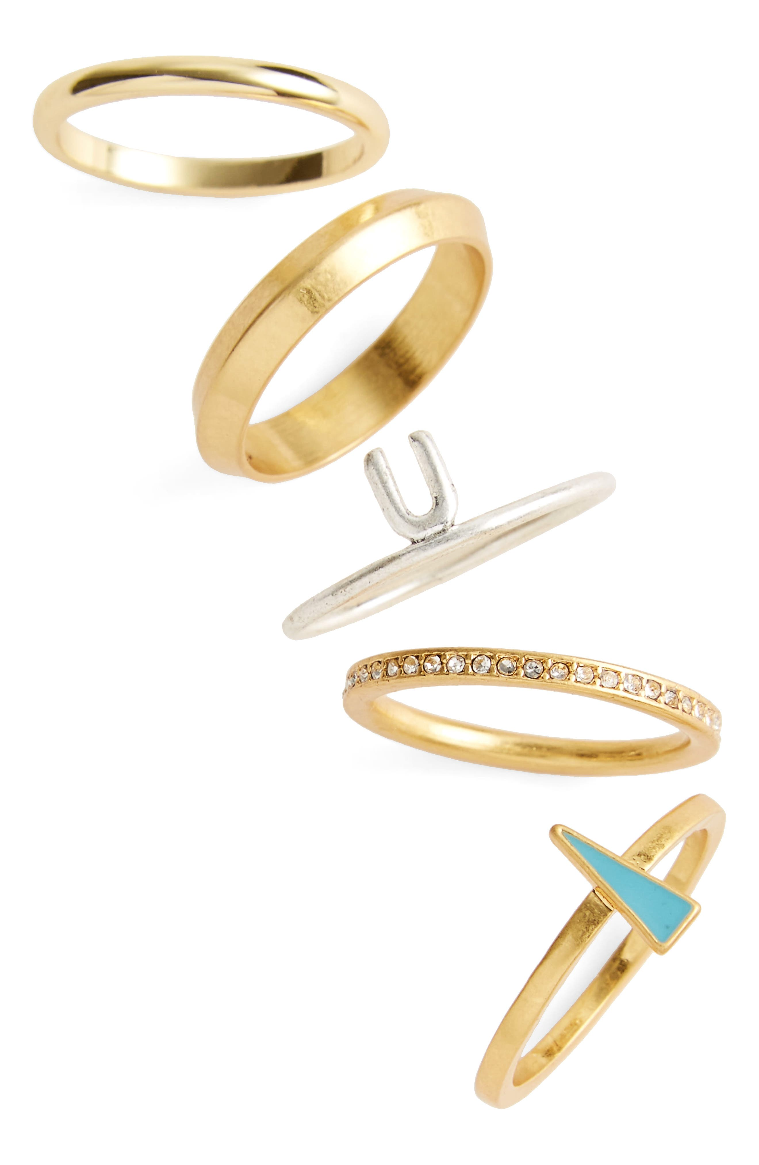 Madewell Set of 5 Stackable Rings
