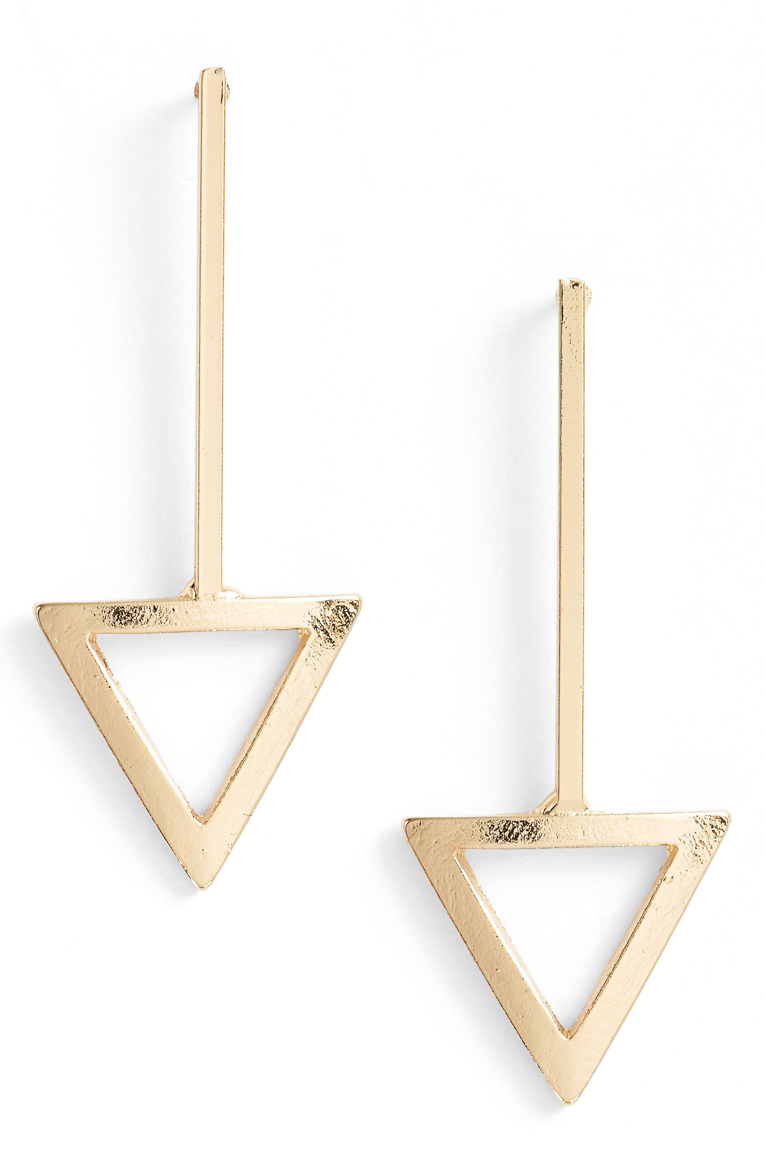 Ettika Triangle Drop Earrings
