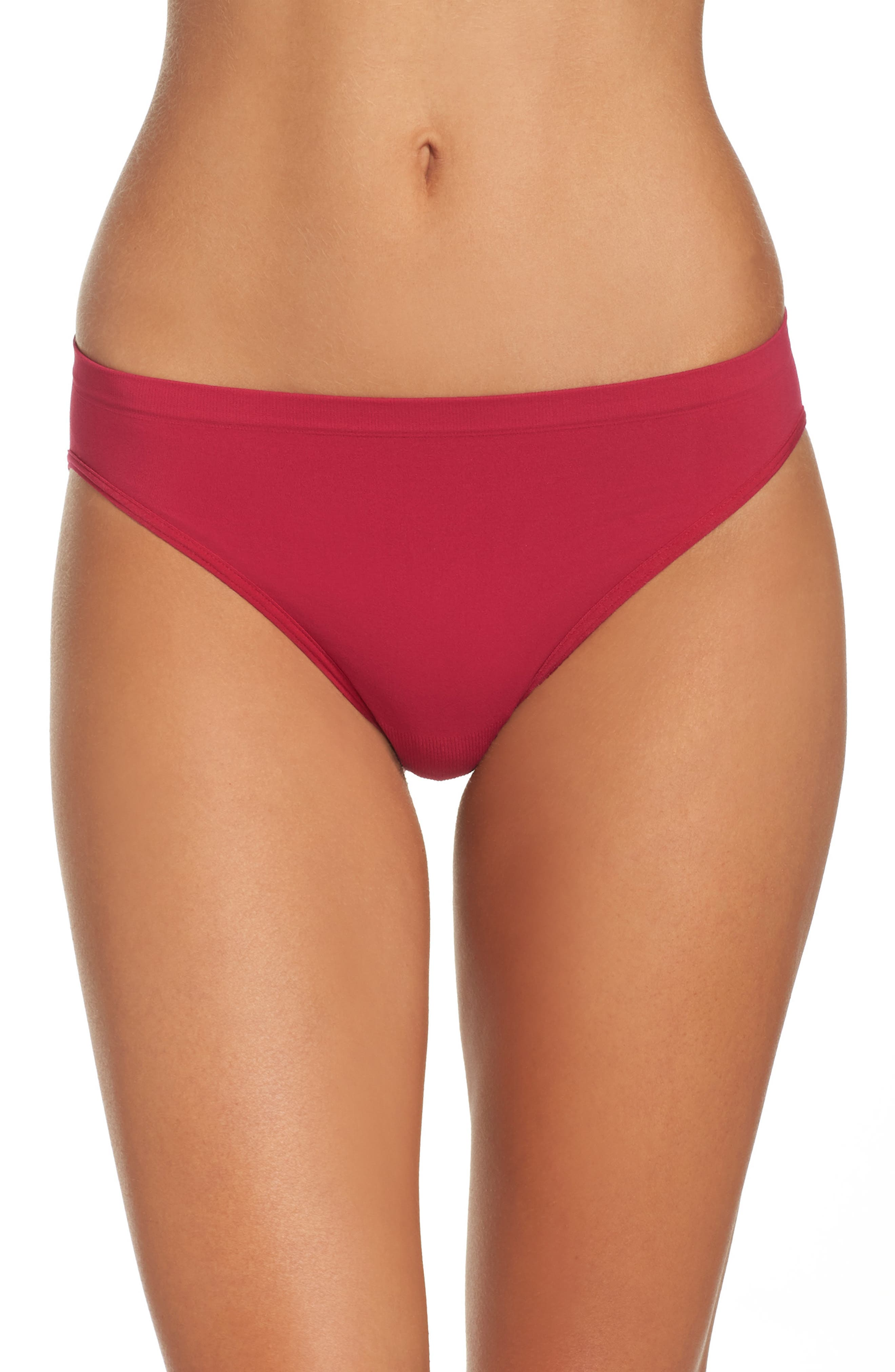 Nordstrom Lingerie Seamless High Cut Briefs (3 for $33)