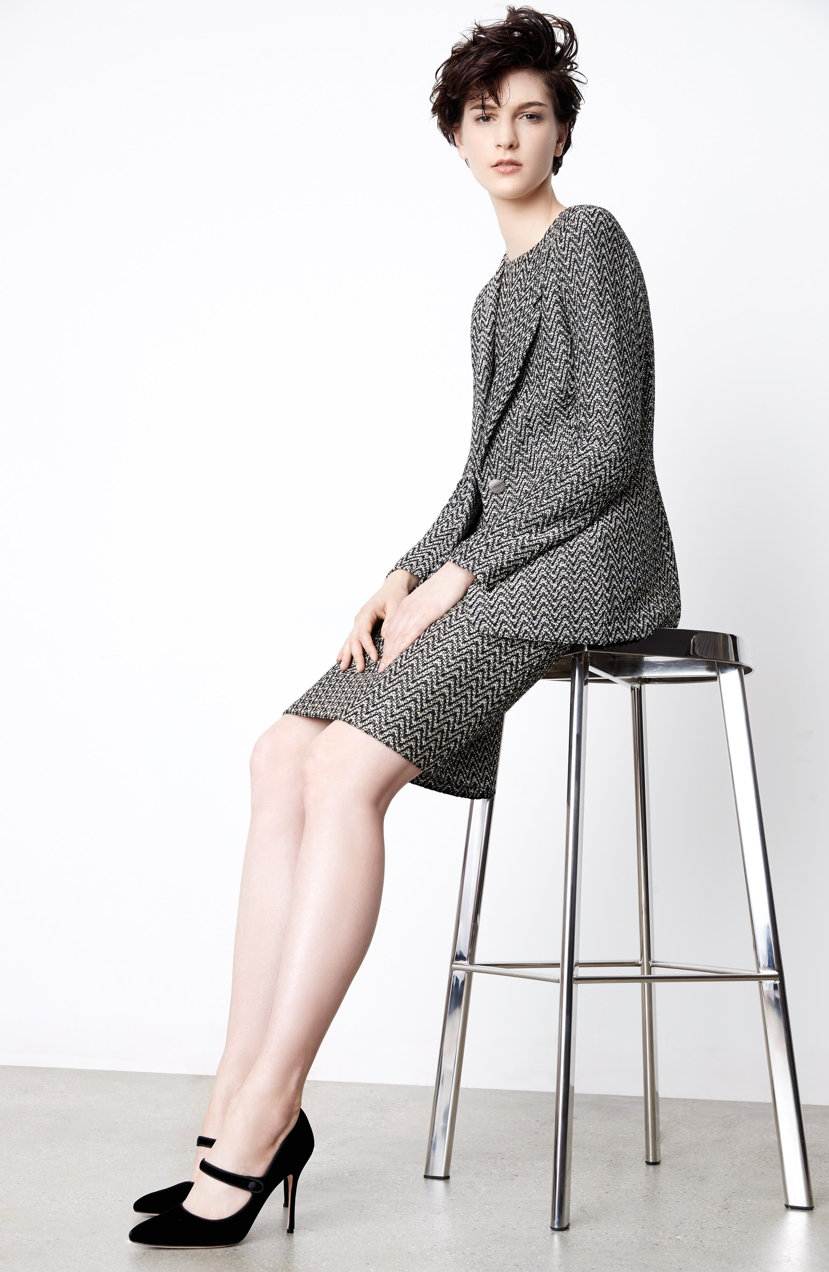St. John Collection Tweed Jacket & Dress