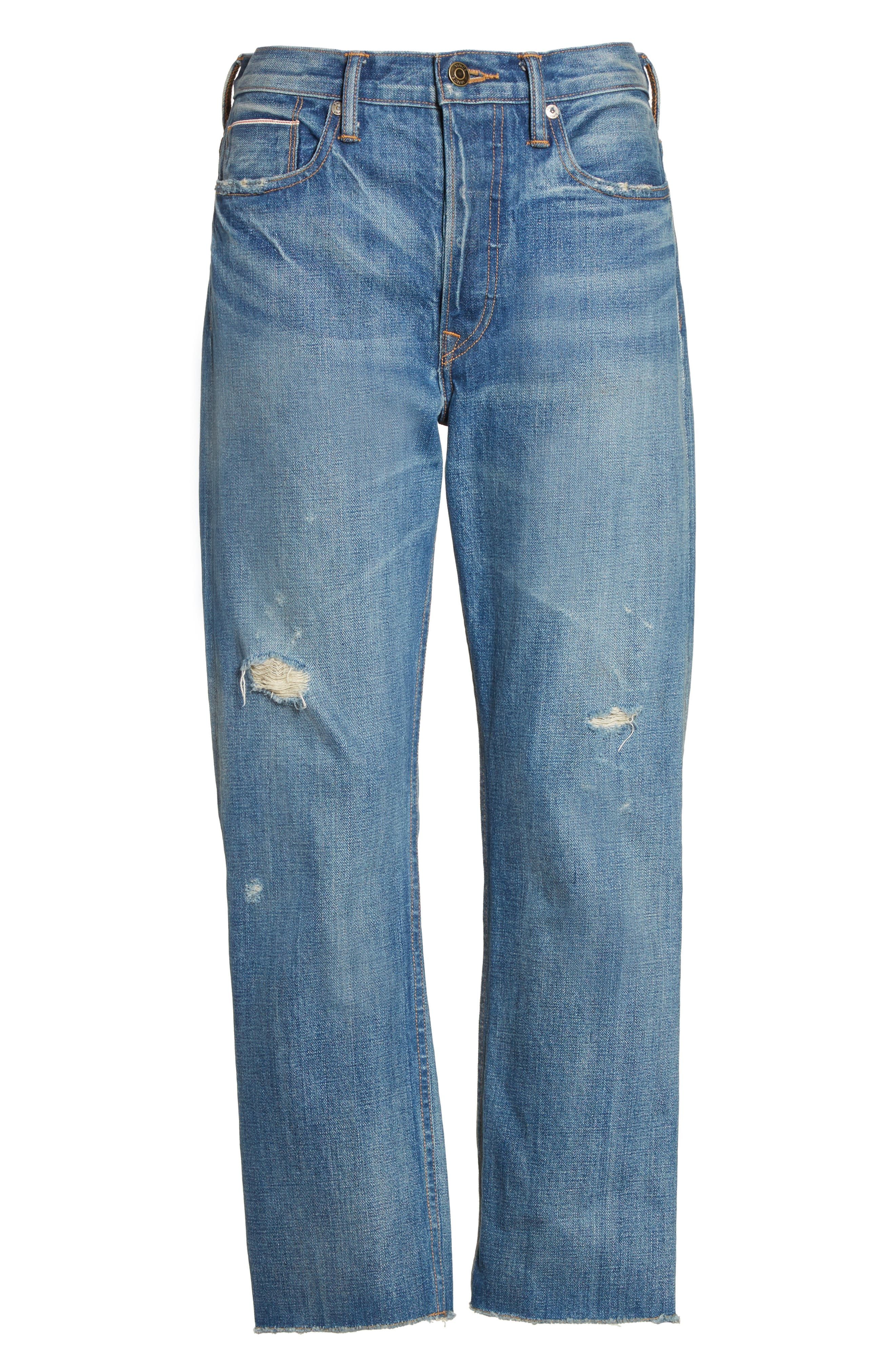 Alternate Image 7  - Vince Union Distressed Slouch Jeans