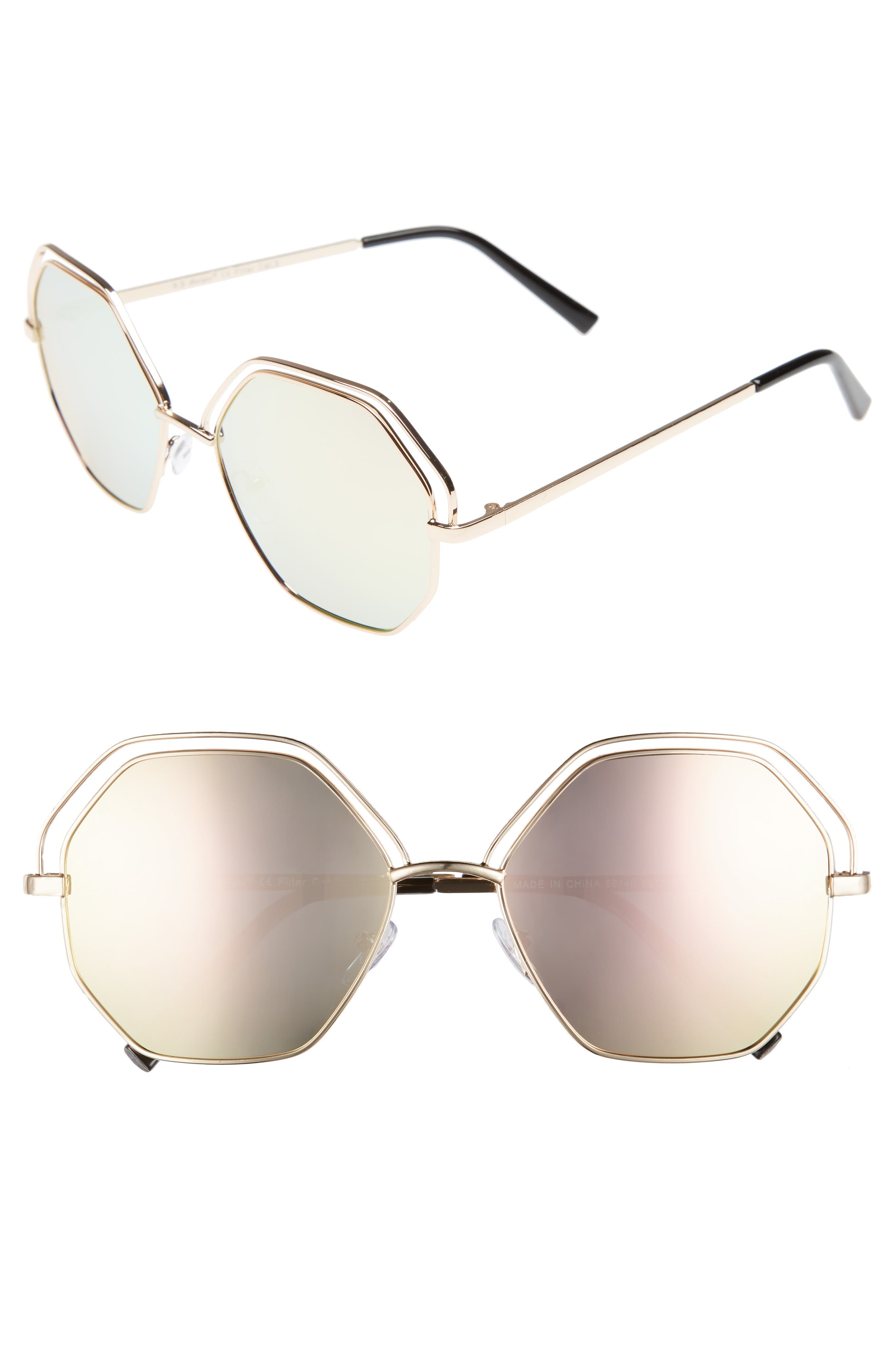 A.J. Morgan Minx 56mm Mirrored Round Sunglasses