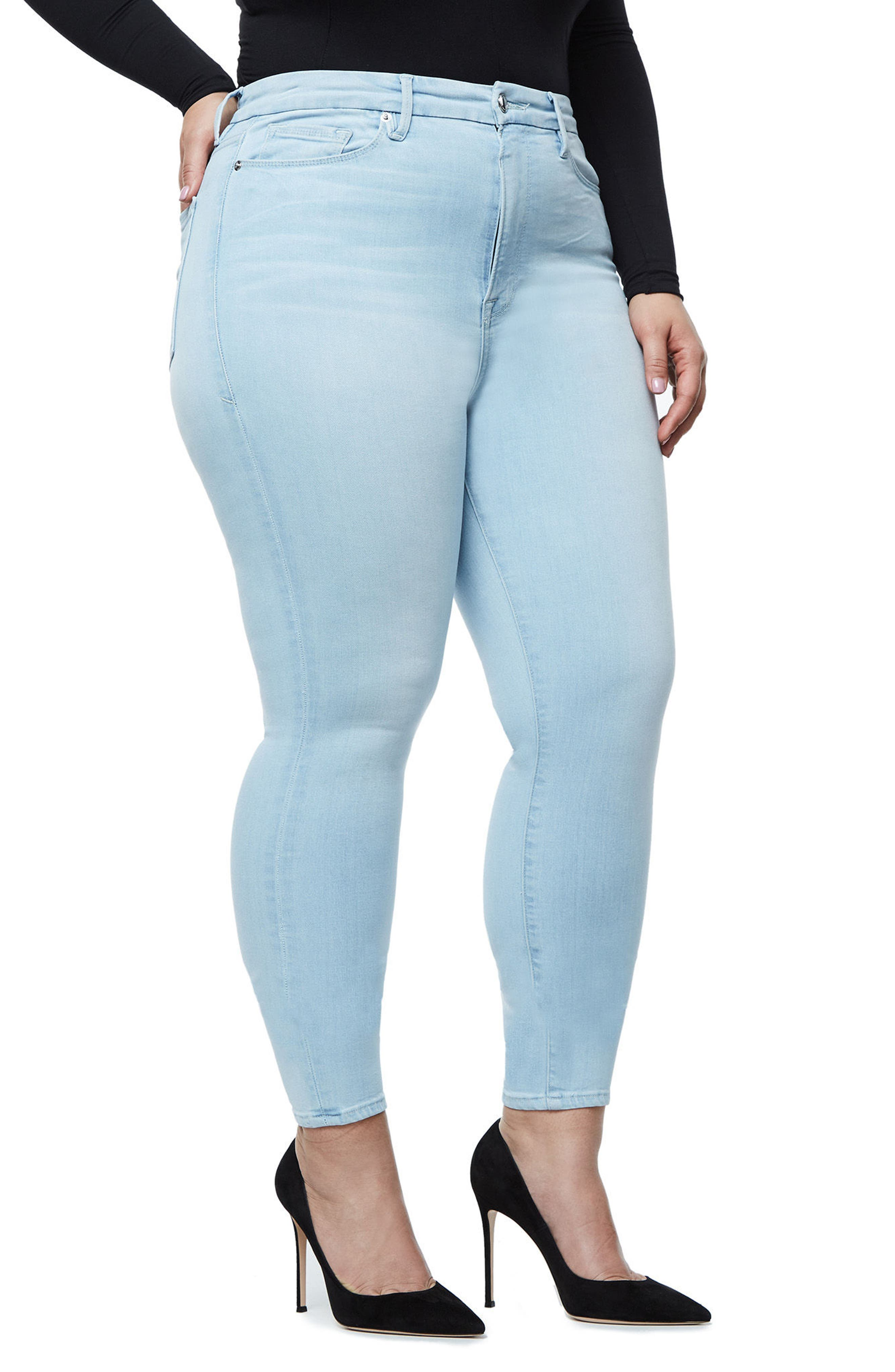 Alternate Image 7  - Good American Good Waist High Waist Crop Skinny Jeans