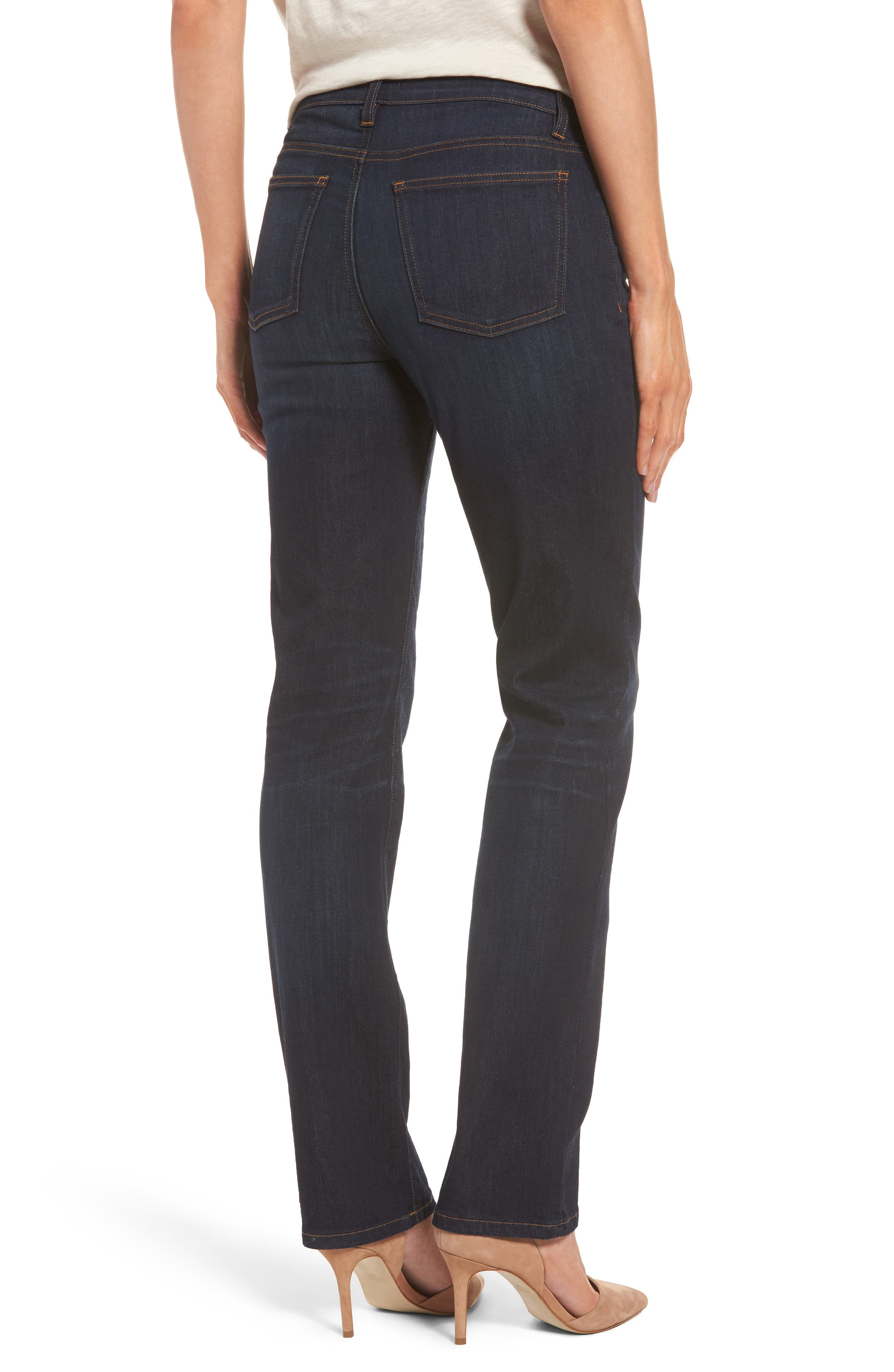 Alternate Image 2  - Eileen Fisher Straight Leg Stretch Jeans (Regular & Petite)